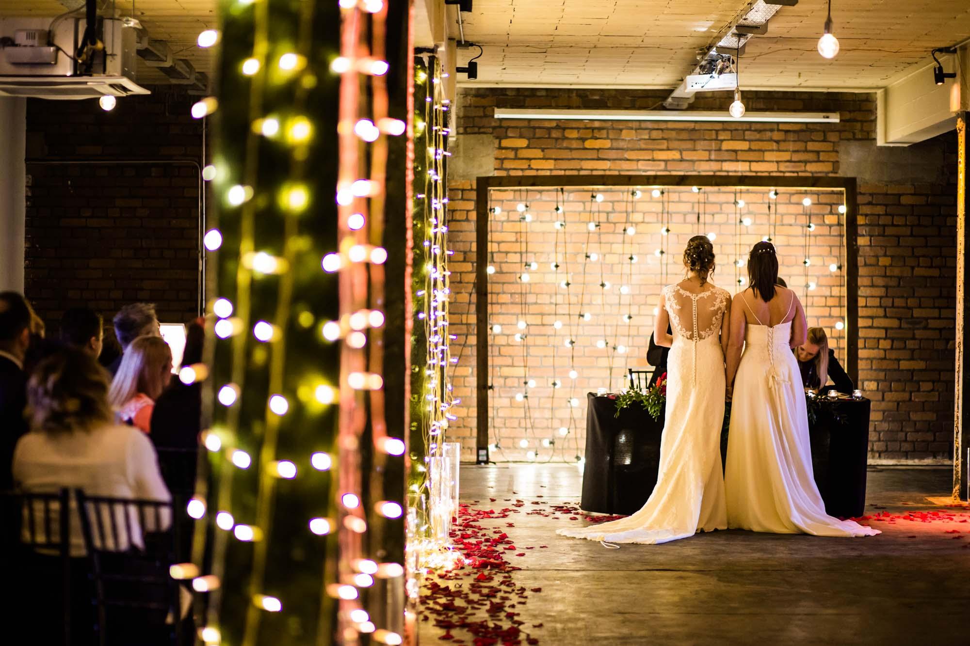 Victoria Warehouse Wedding Ceremony Photographs
