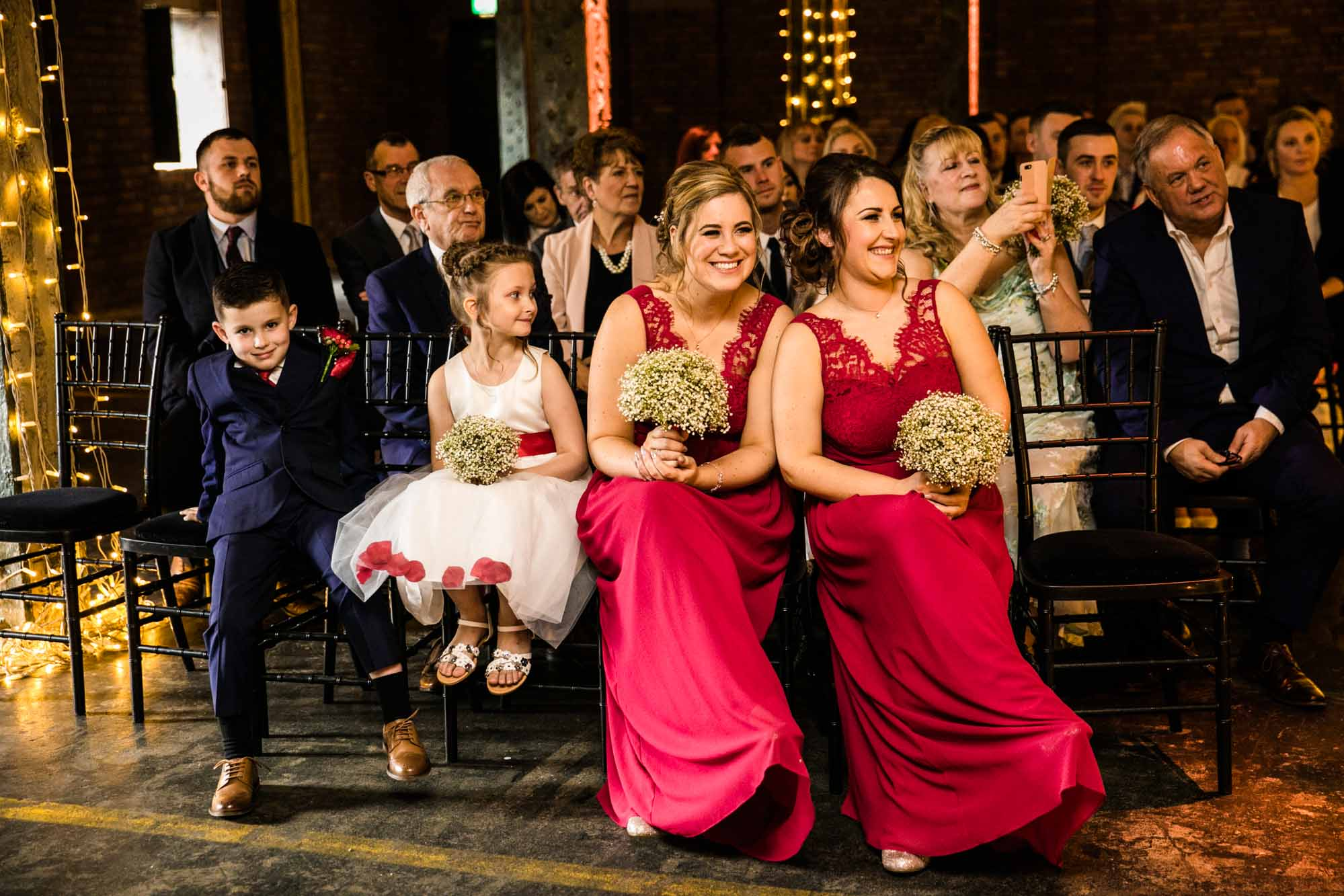 Victoria Warehouse Wedding Ceremony Photography