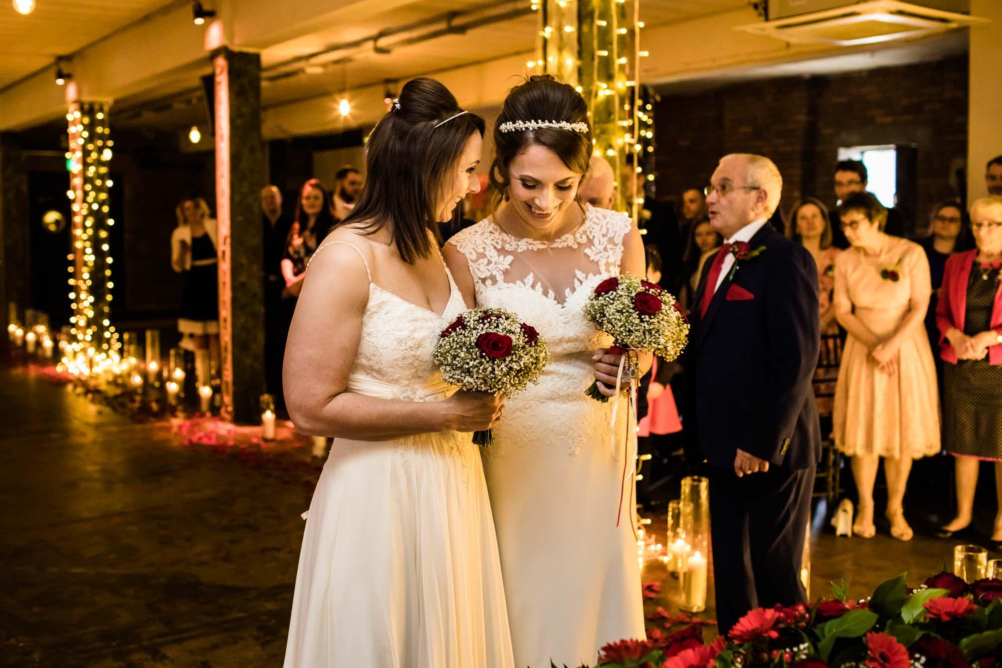 Victoria Warehouse Wedding Ceremony Photos