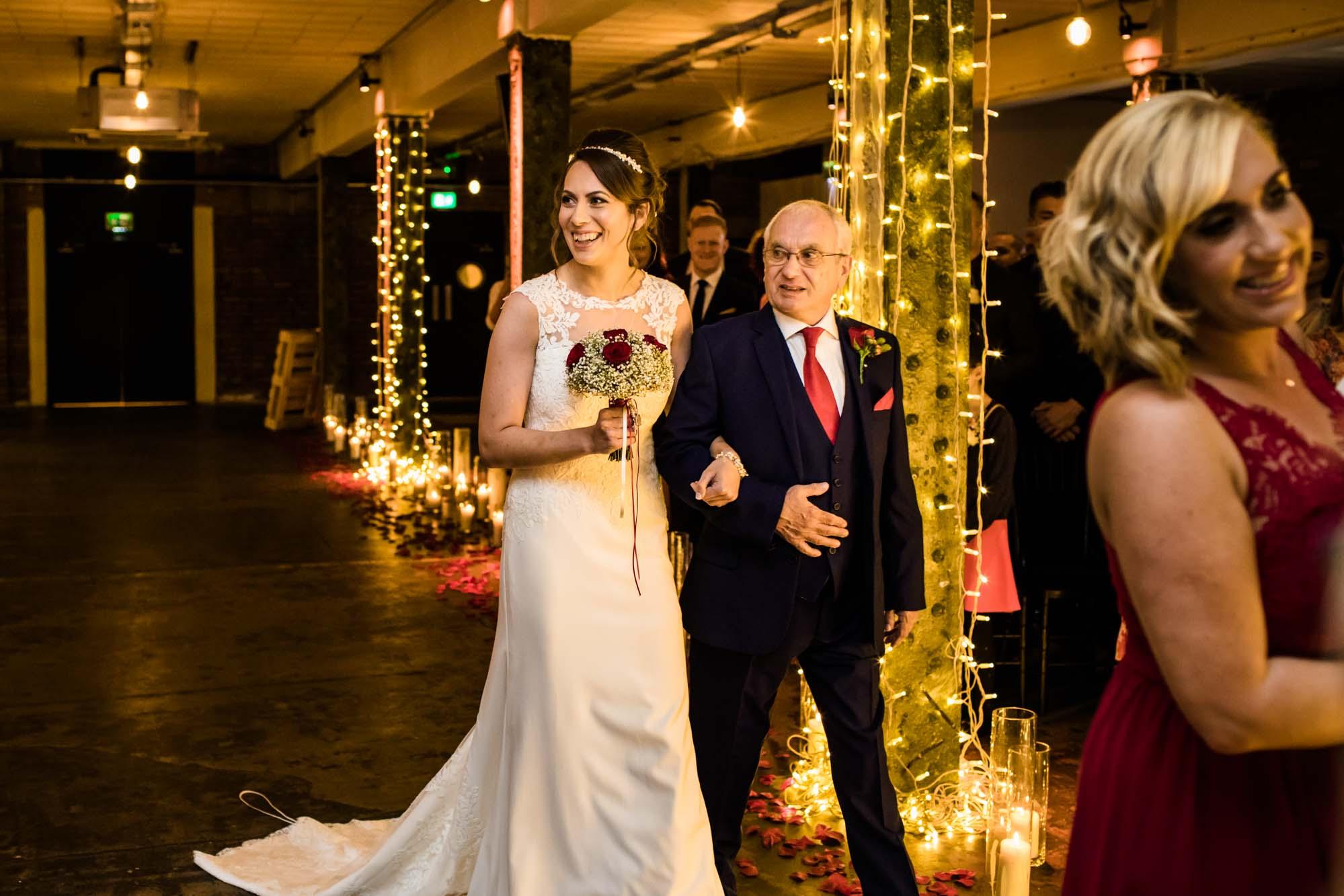 Victoria Warehouse Wedding Ceremony