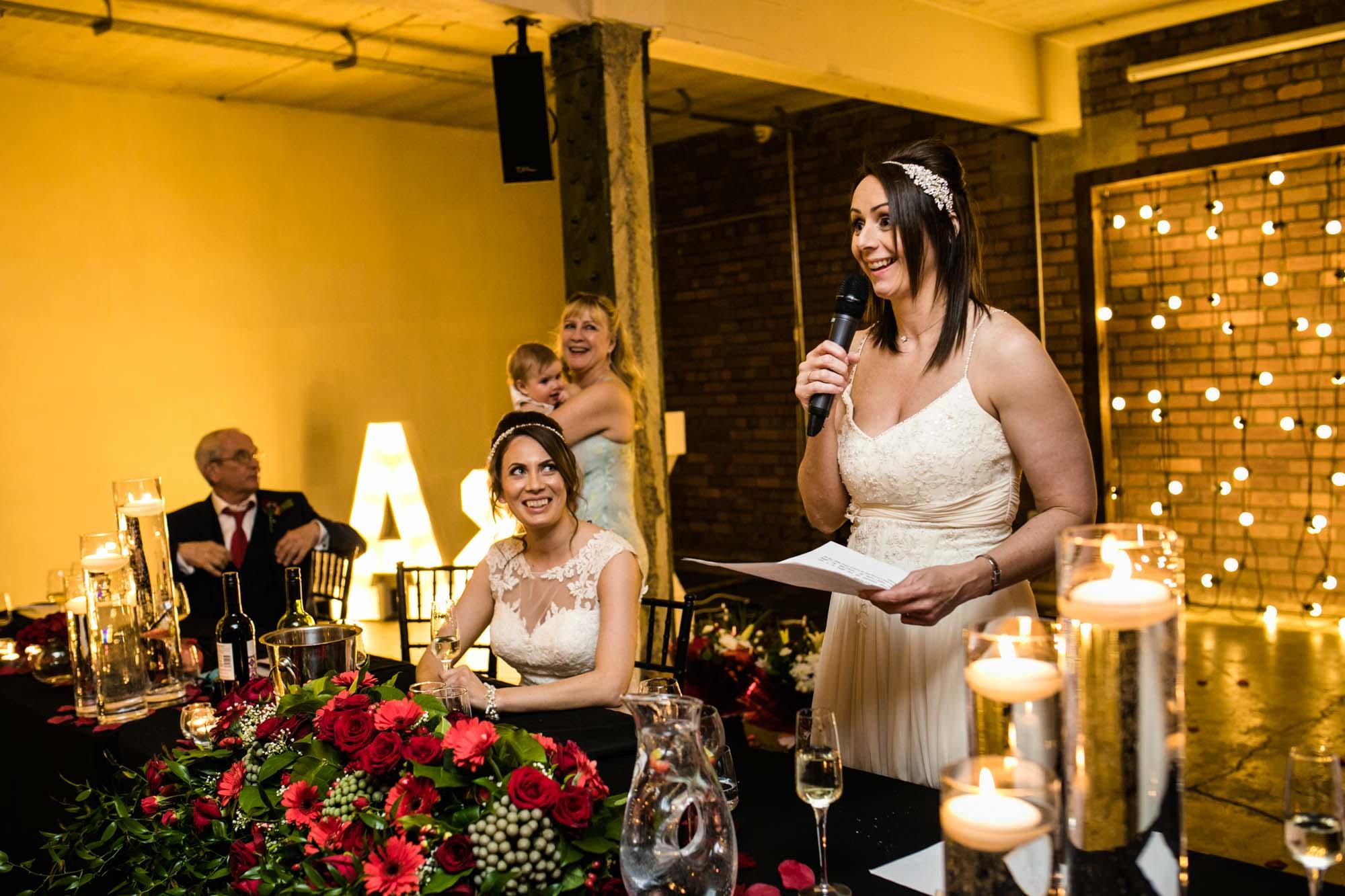 Victoria Warehouse Wedding Reception Photography