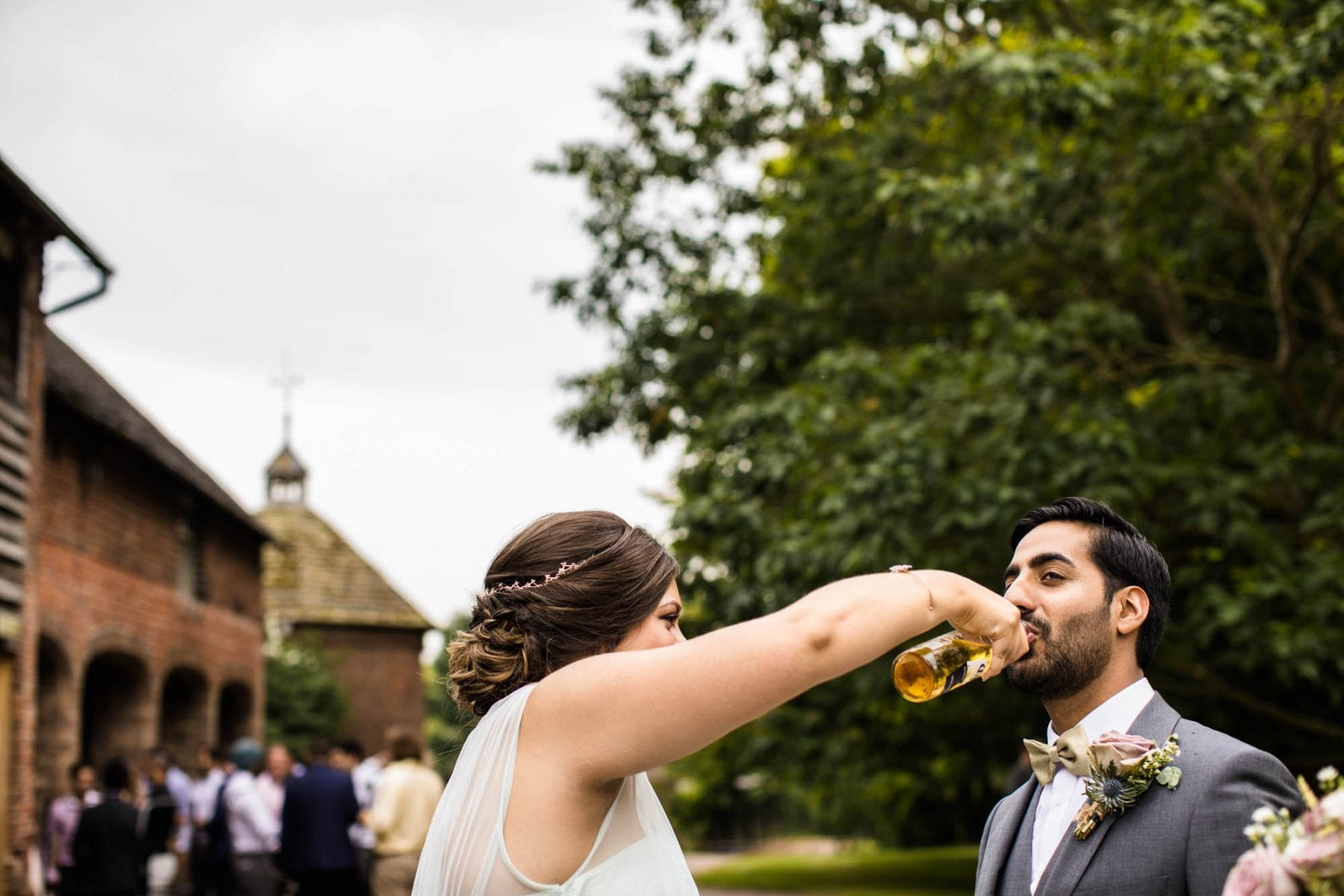 Fun Wedding Photo Pimhill Barn
