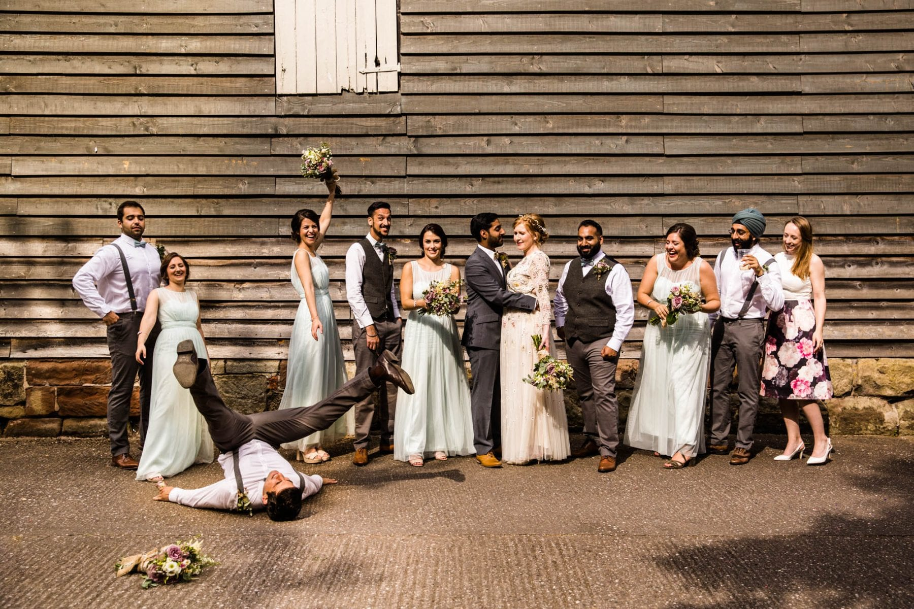 Pimhill Barn Fun Wedding Photographs