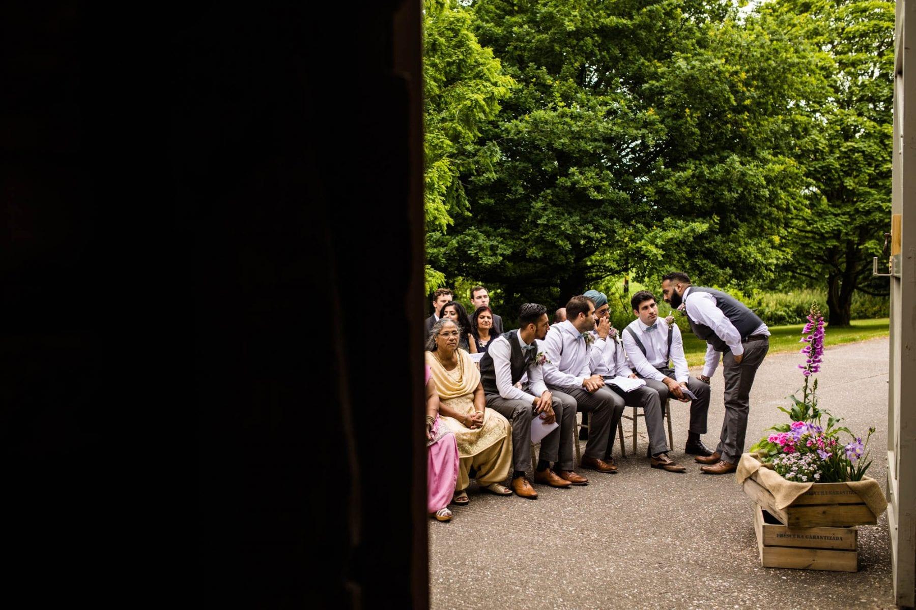 Pimhill Barn Outdoor Wedding Ceremony