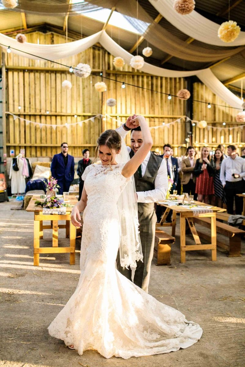 Documentary Wedding Photographer Thornsett Fields Farm
