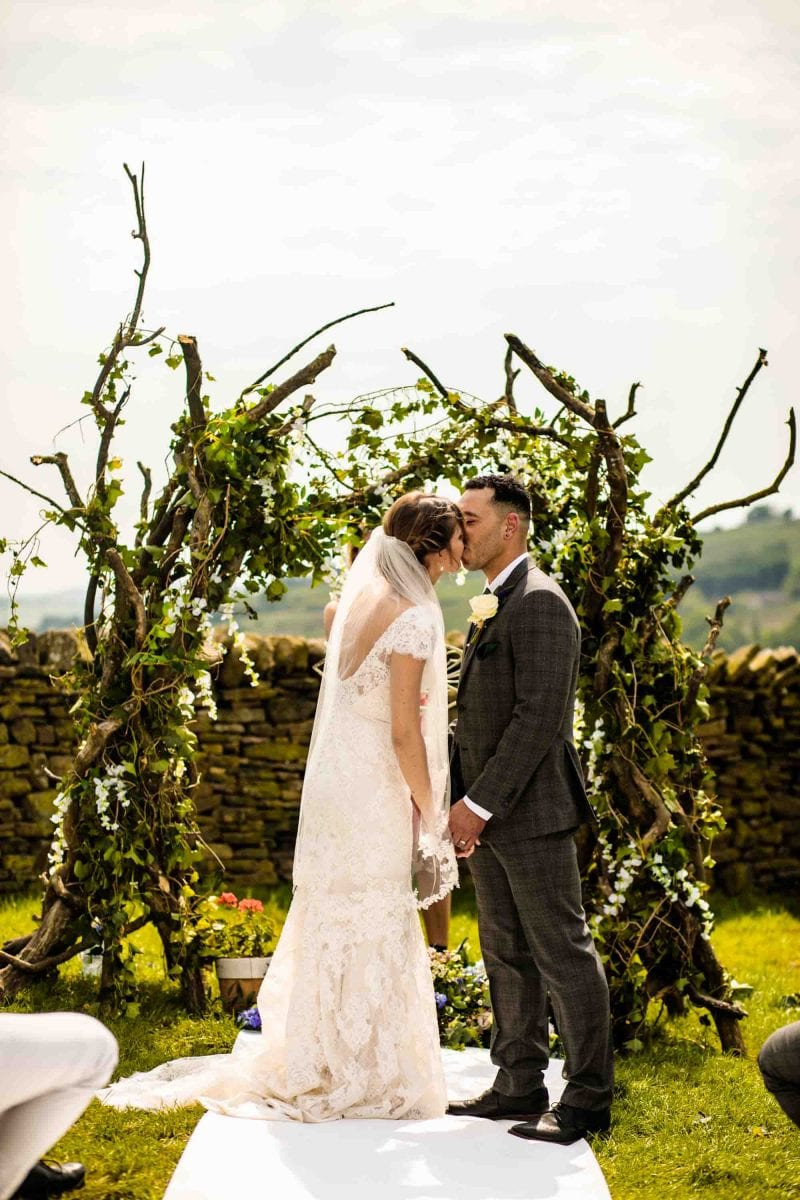 Thornsett Fields Farm Wedding Ceremony Photographer