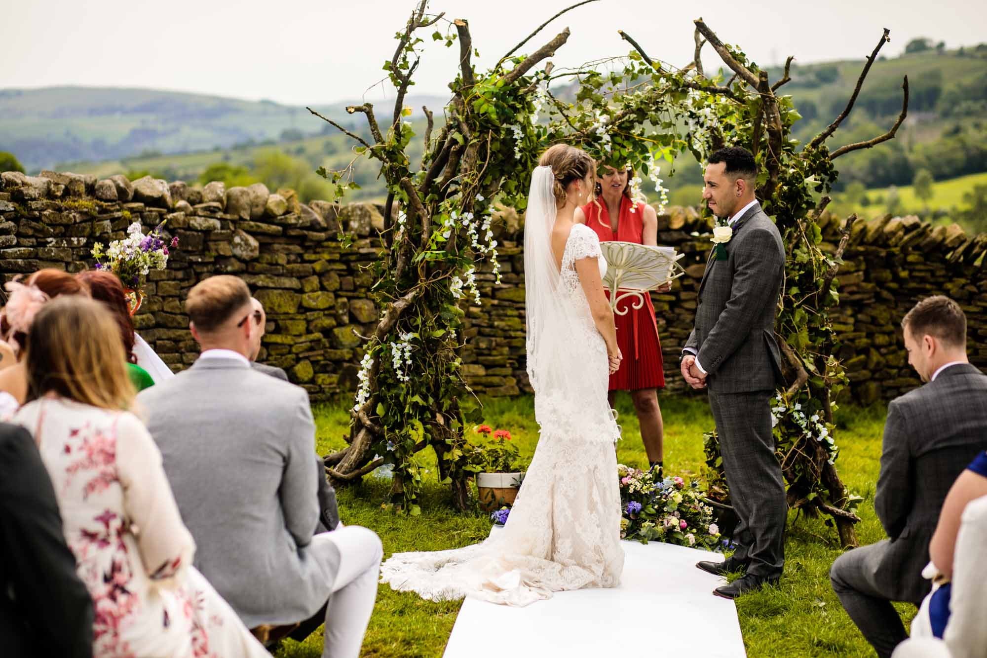 Thornsett Fields Farm Wedding Ceremony Photographs
