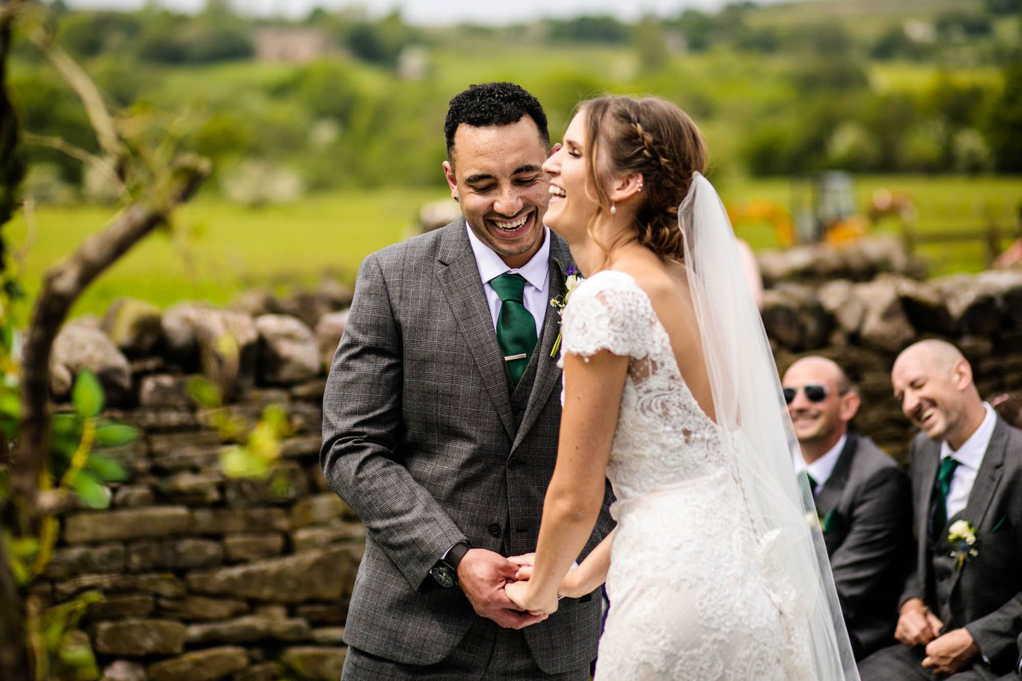Thornsett Fields Farm Wedding Ceremony Photos