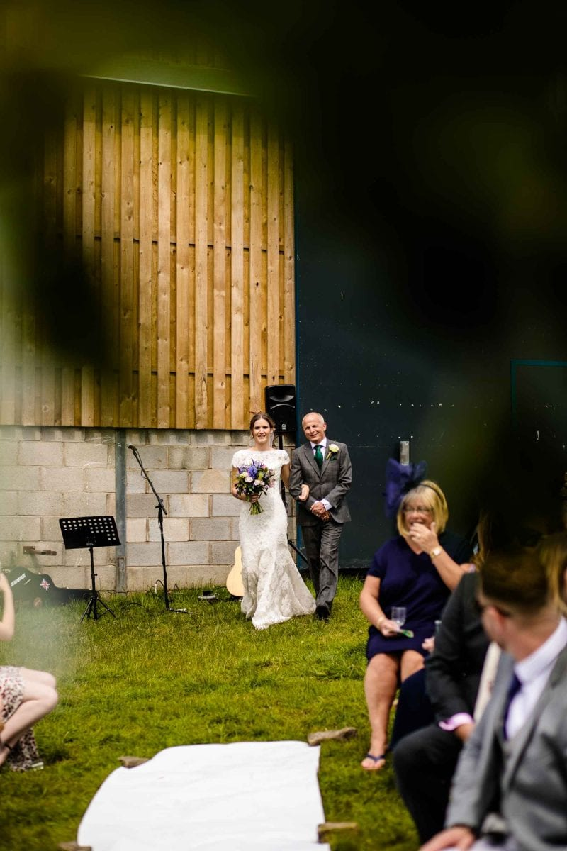 Thornsett Fields Farm Wedding Ceremony