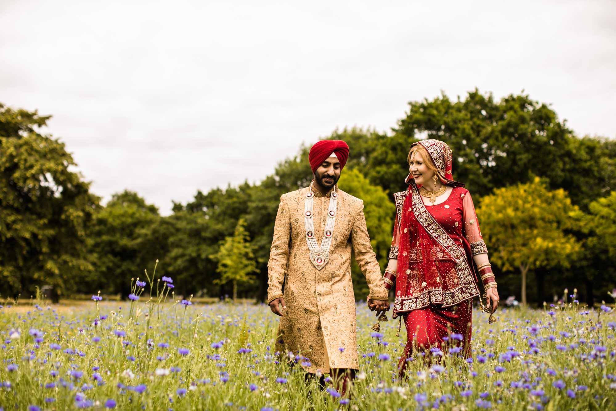 Creative Sikh Fusion Wedding Photographer