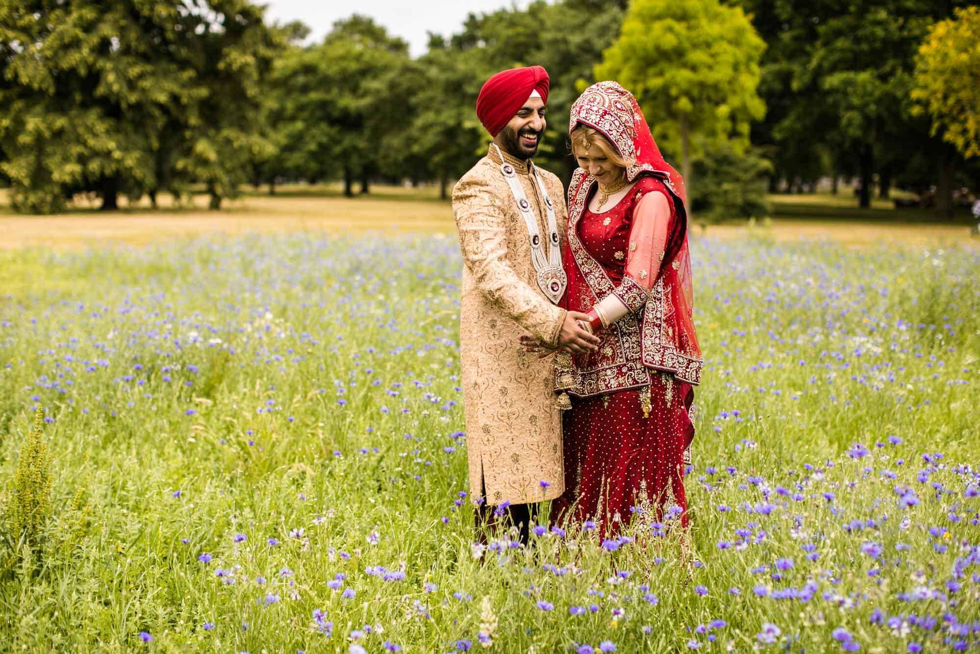 Creative Sikh Fusion Wedding Photographs