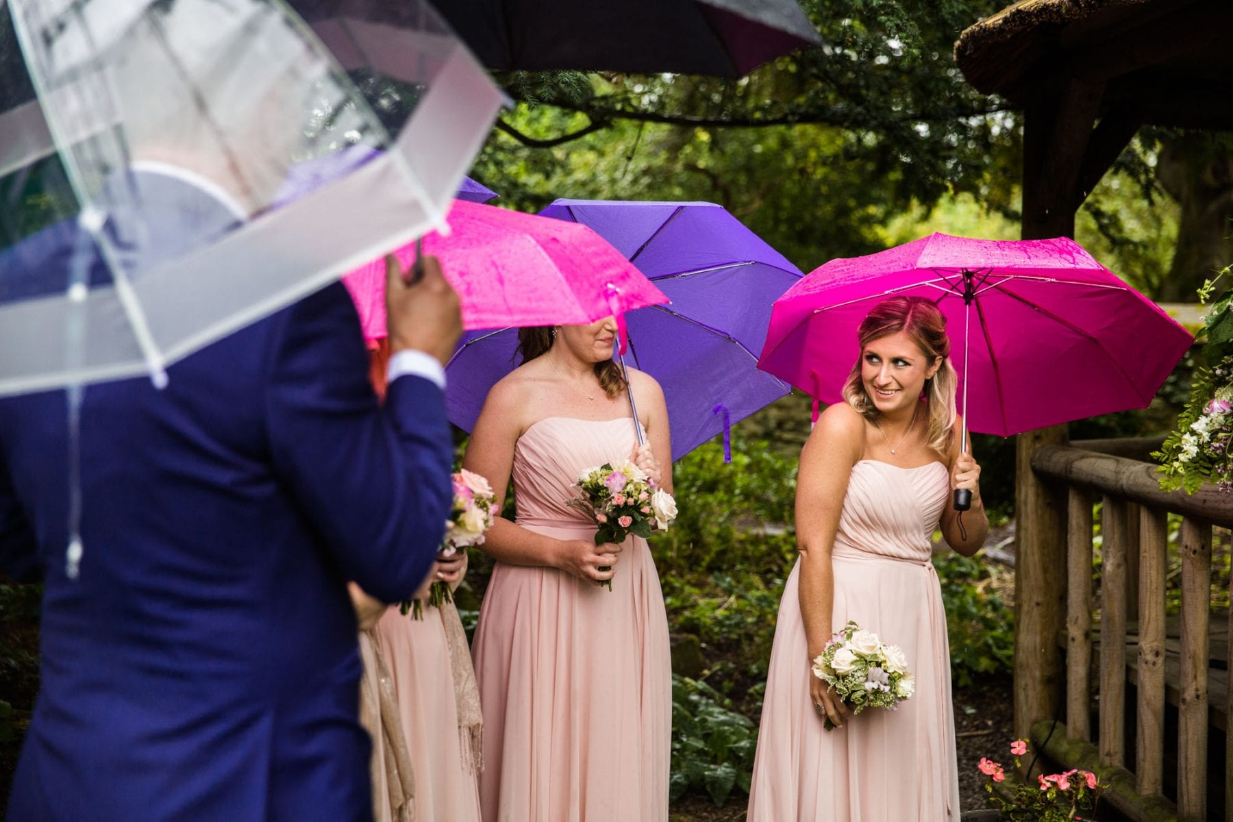 Eyam Hall Outdoor Ceremony Rain