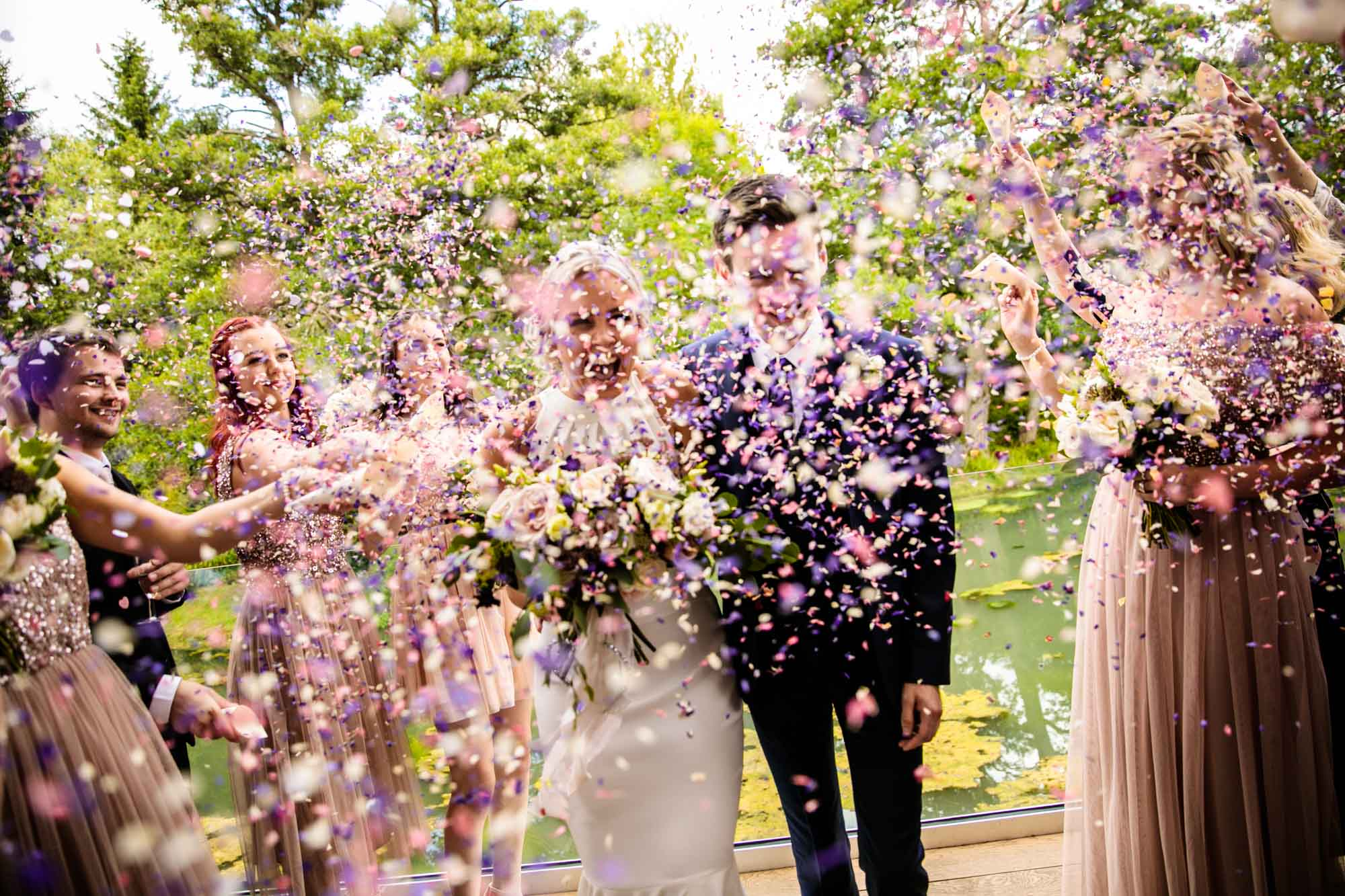 The Mill Barns Colourful Wedding Photography