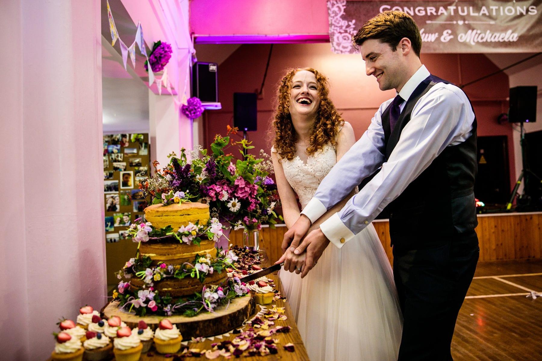 Fun Wedding Photographs Farndon Memorial Hall