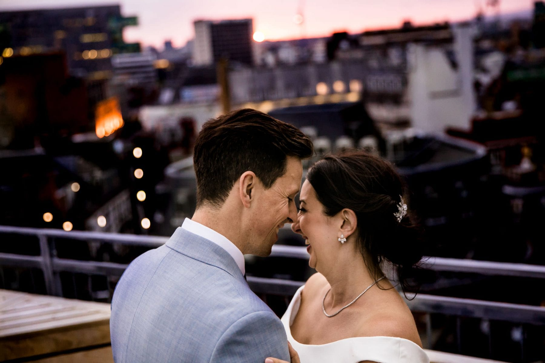 King Street Townhouse Rooftop Wedding Photographs