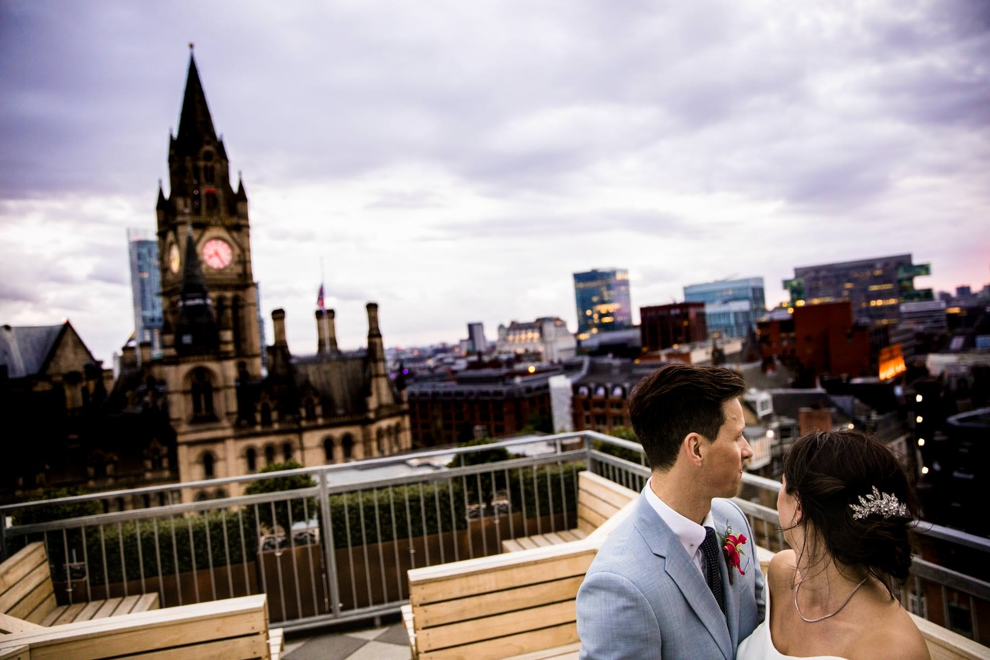King Street Townhouse Rooftop Wedding Photos