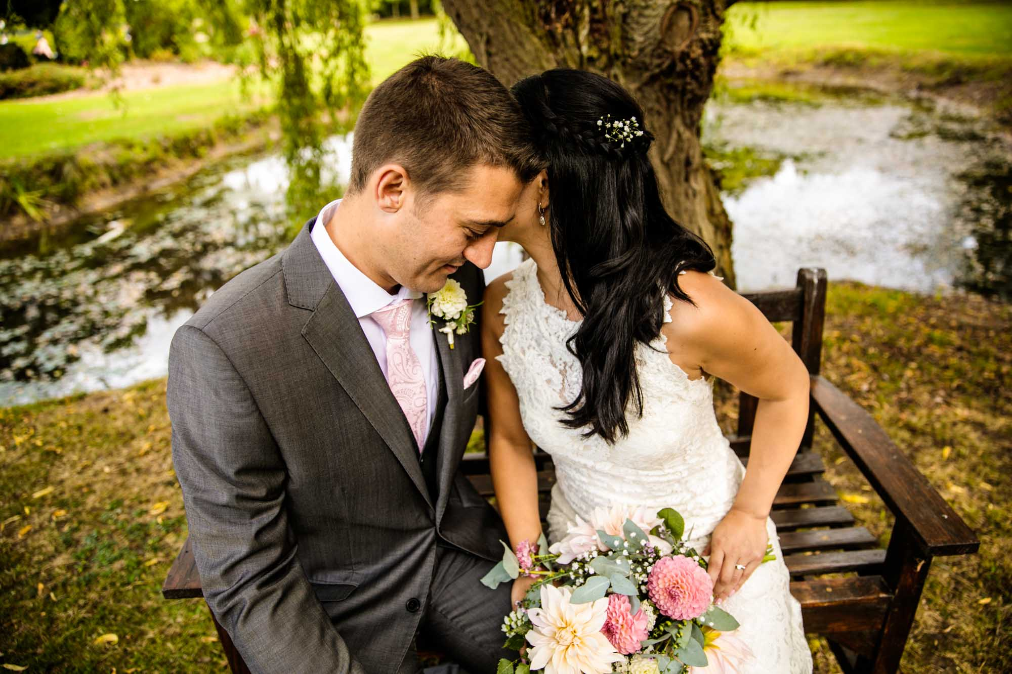 Colourful Wedding Photographs Manley Mere