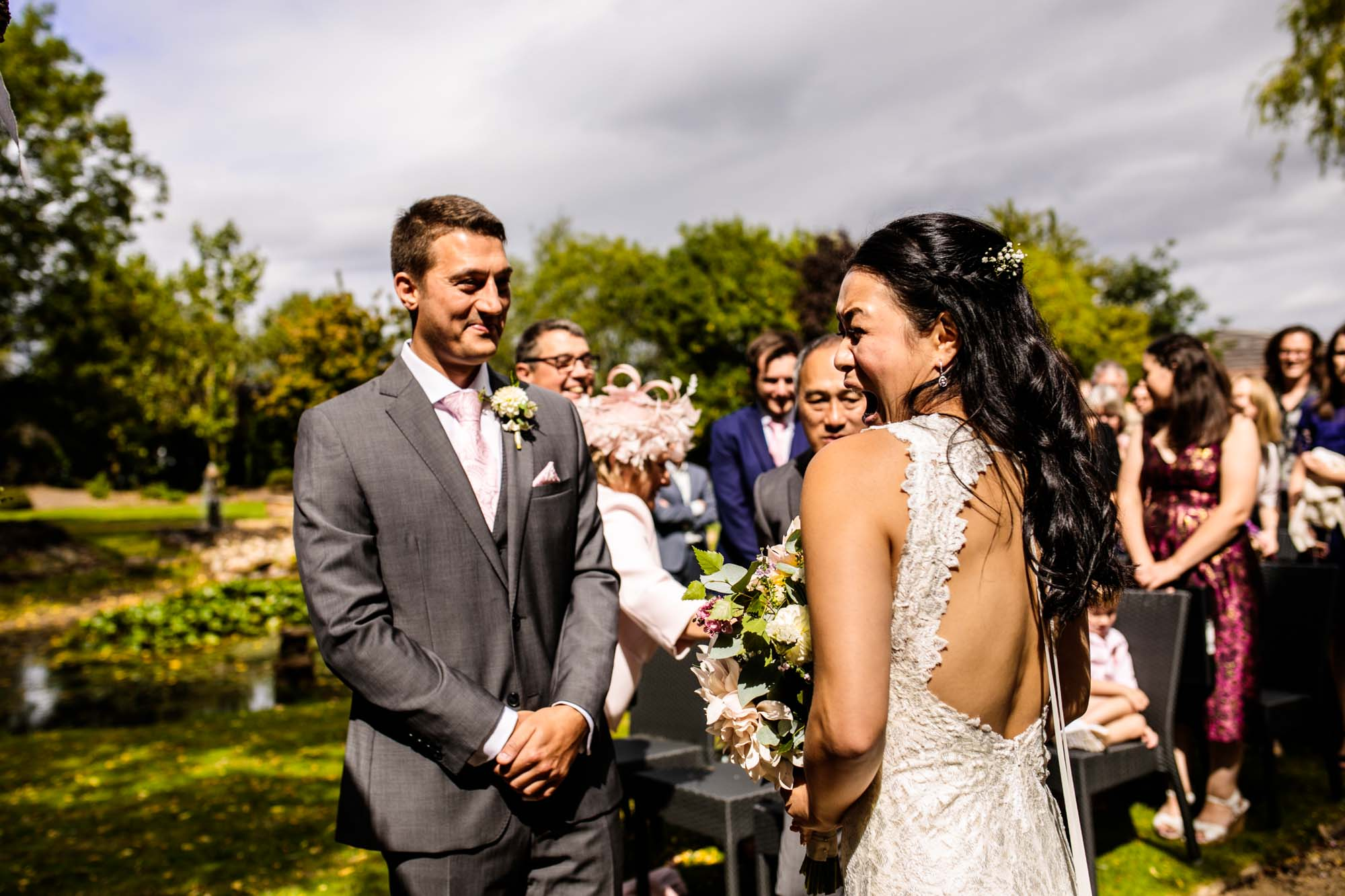 Manley Mere Wedding Ceremony Photographer