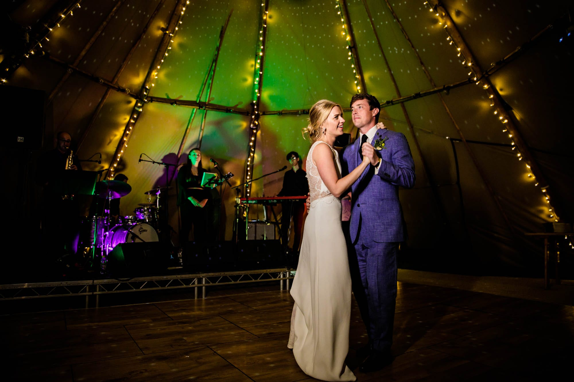 Documentary Tipi Wedding Photos