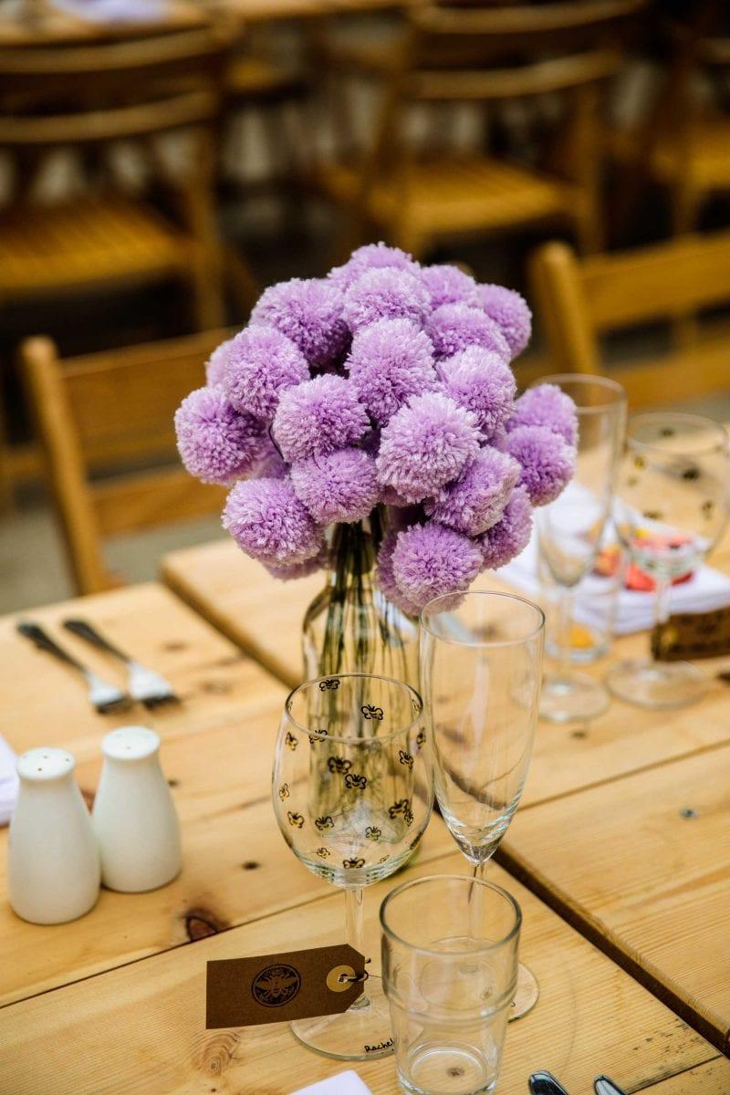 Plas Dinam Wedding Reception Decorations