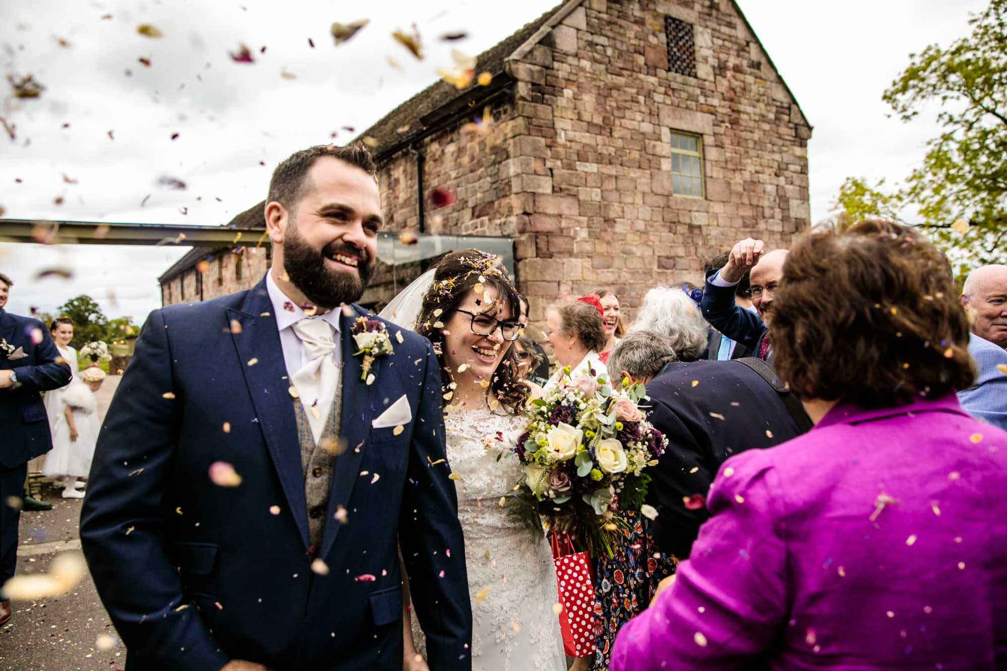 Ashes Barns Colourful Wedding Photographer
