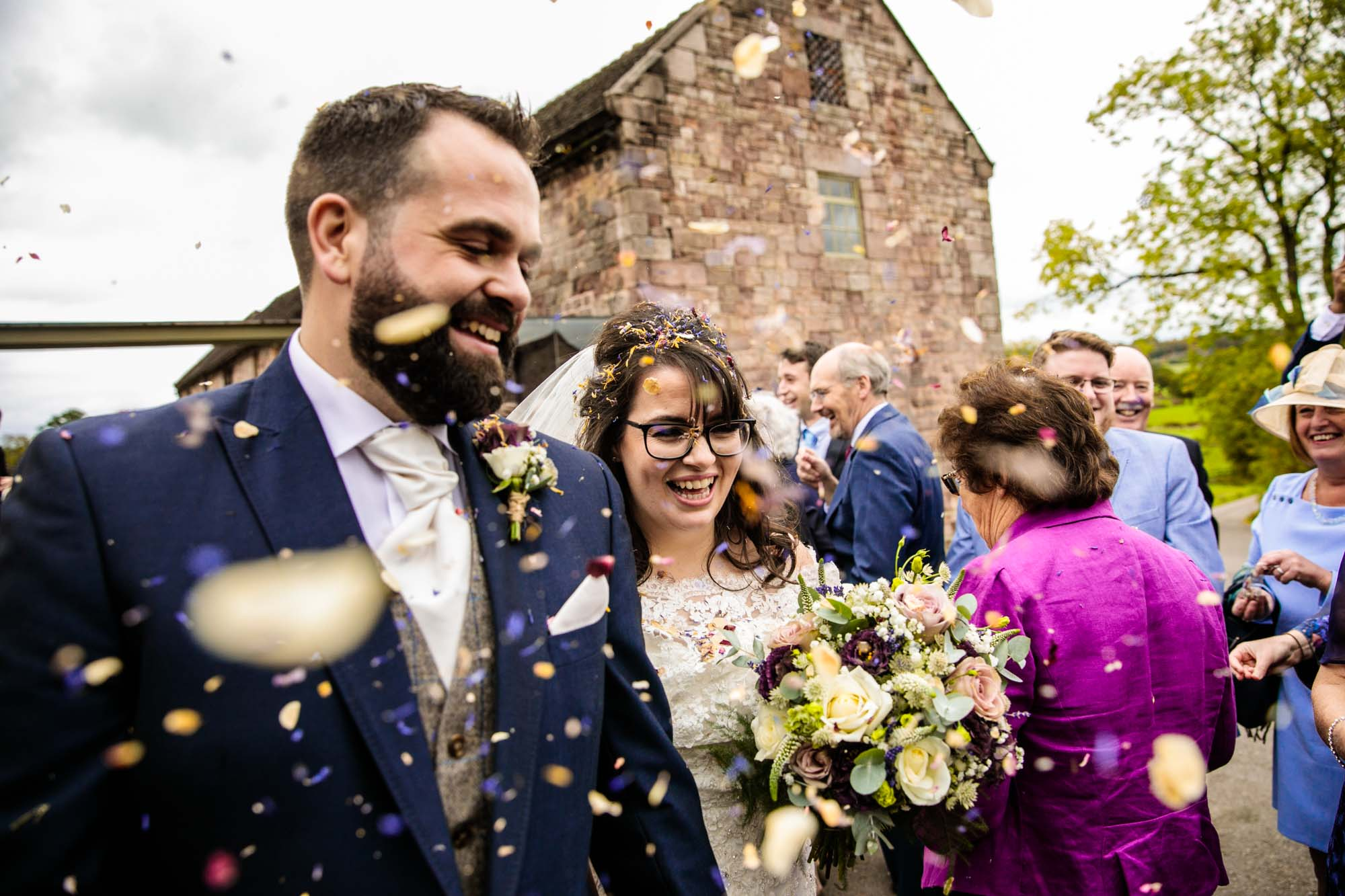 Ashes Barns Colourful Wedding Photographs