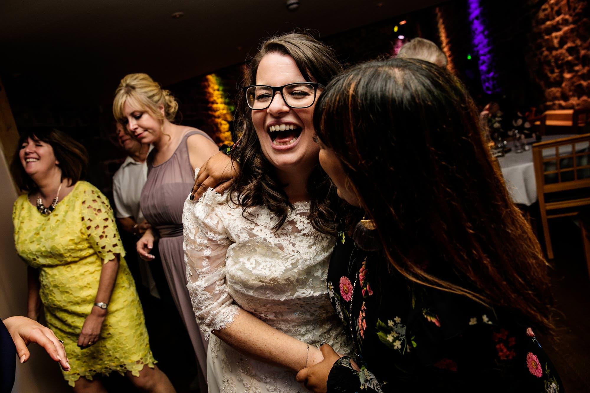 Ashes Barns Fun Wedding Photographs