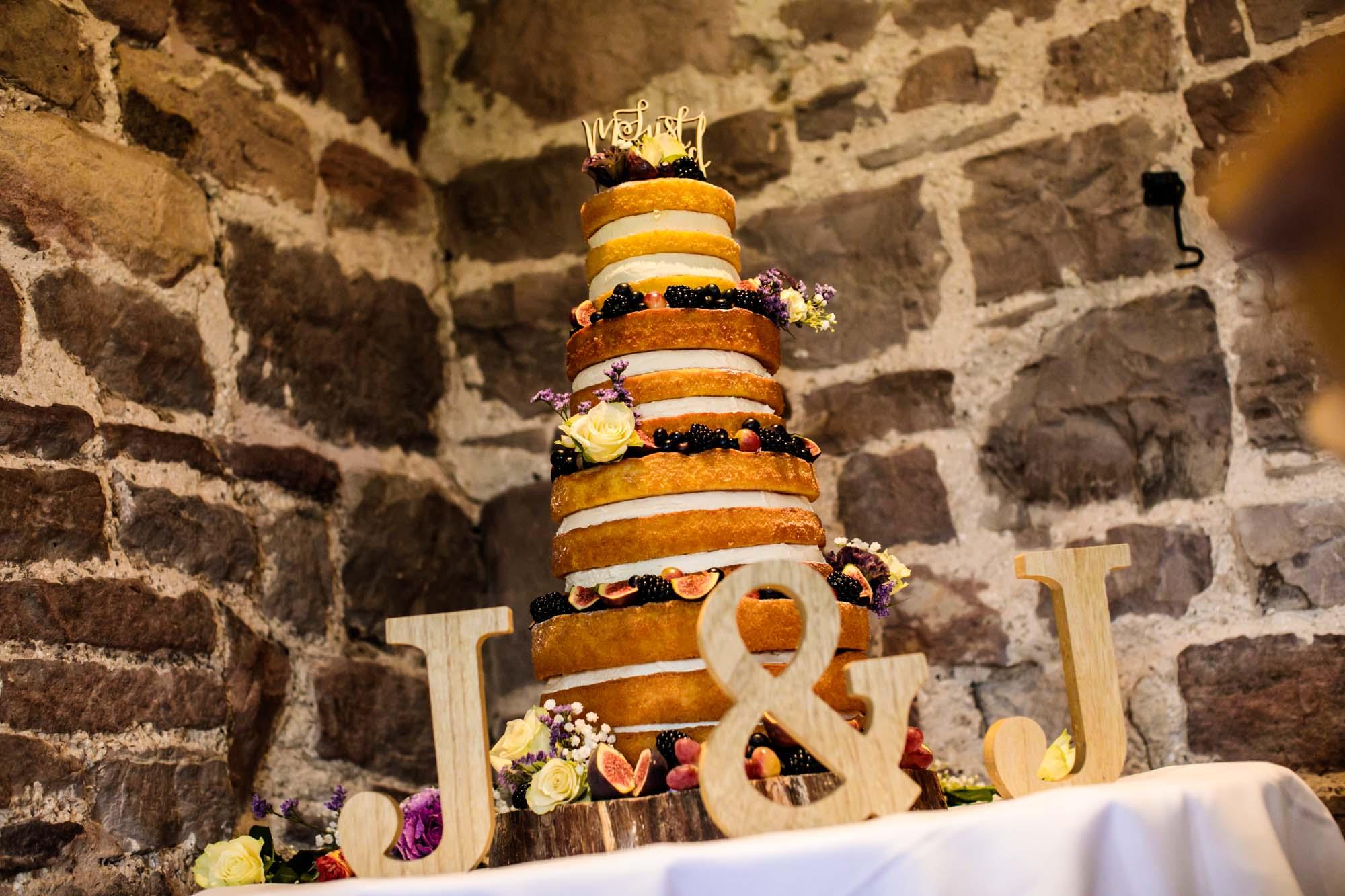 Ashes Barns Wedding Cake