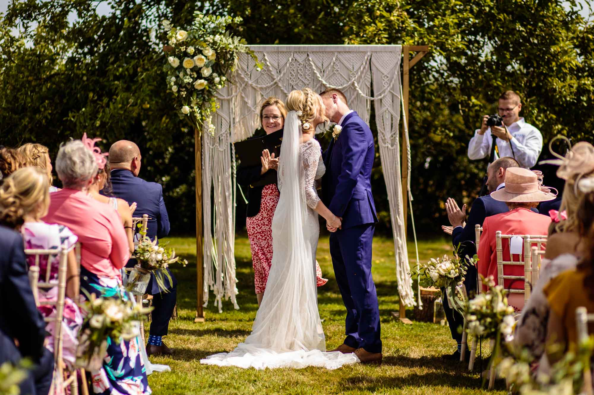 Outdoor Wedding Ceremony Photographs Stock Farm Barn
