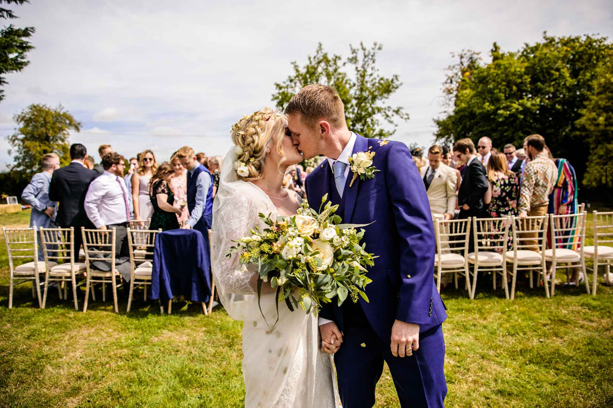 Outdoor Wedding Ceremony Photography Stock Farm Barn Cheshire