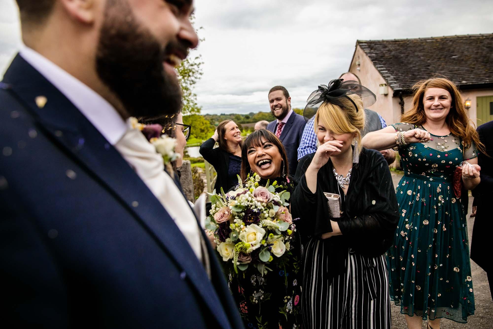 Ashes Barns Colourful Wedding Photos