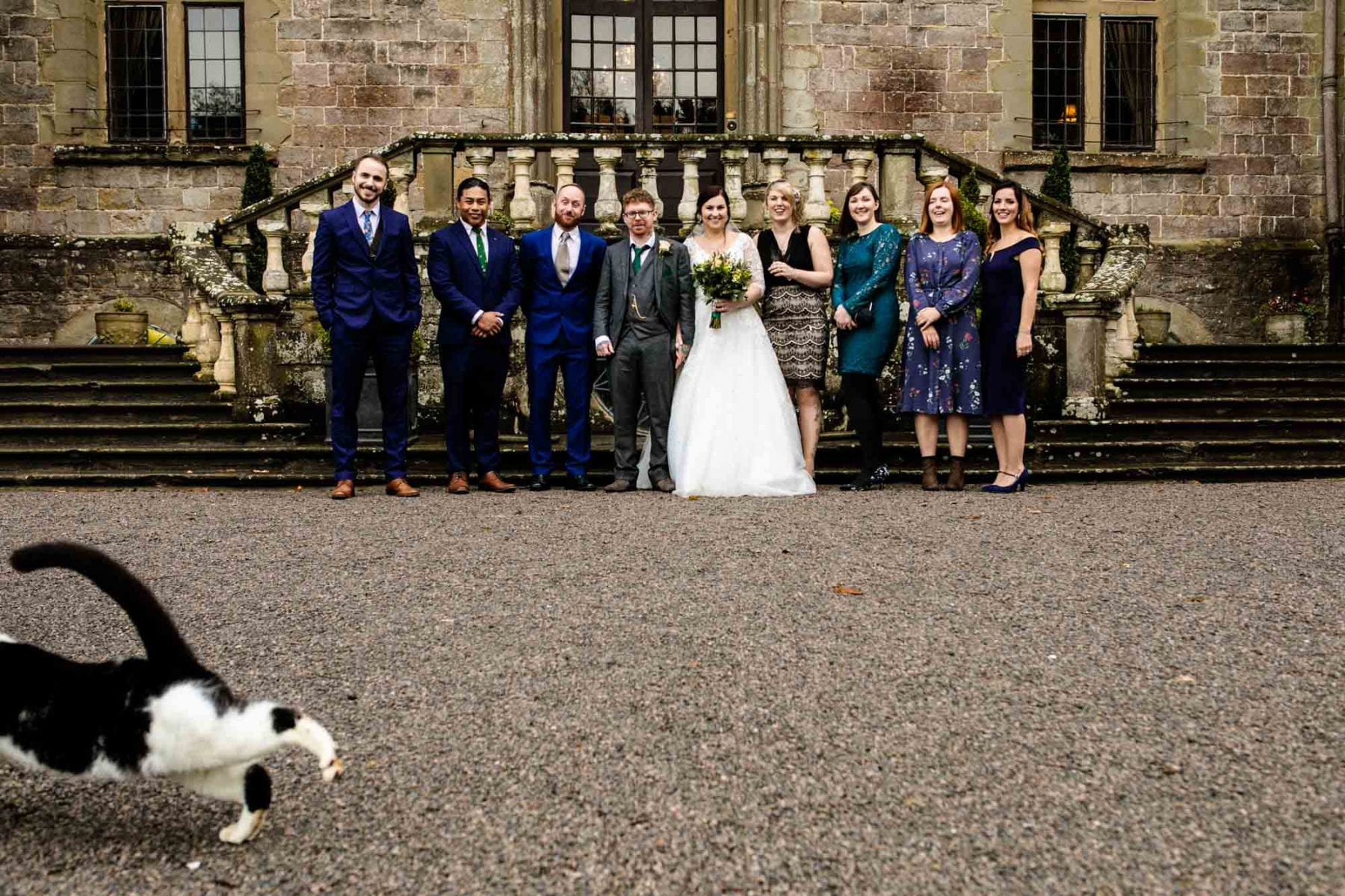 Clearwell Castle Fun Wedding Photos
