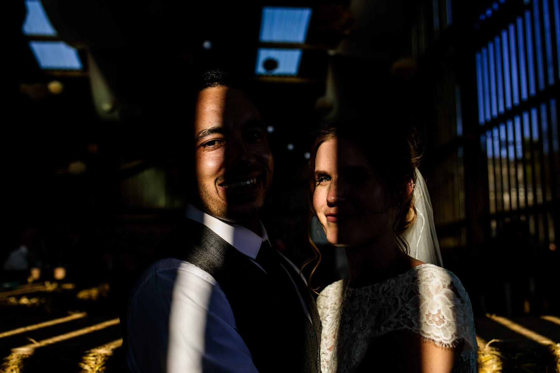 Creative Wedding Photographs Thornsett Fields Farm