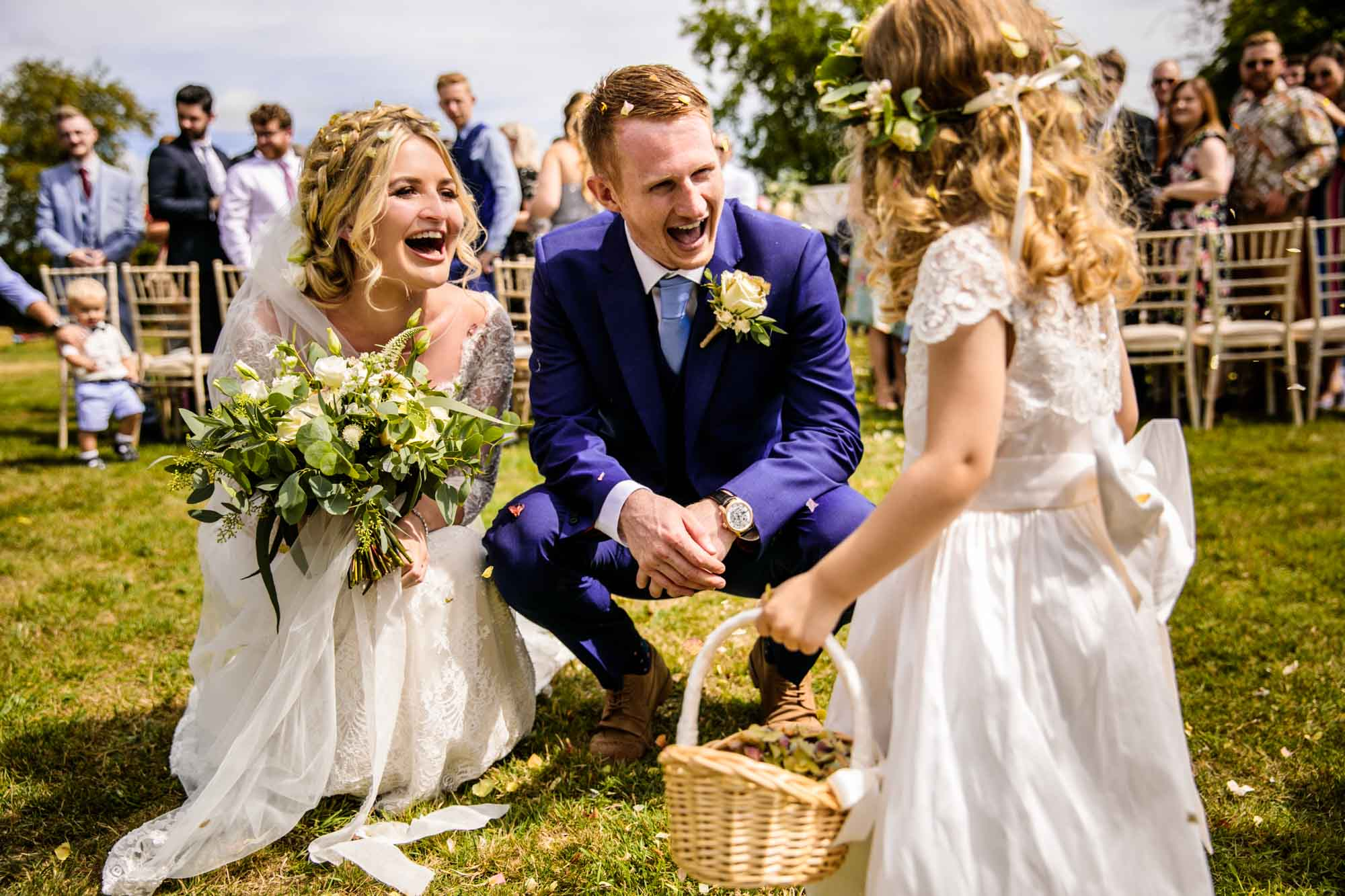 Outdoor Wedding Ceremony Stock Farm Barn Cheshire