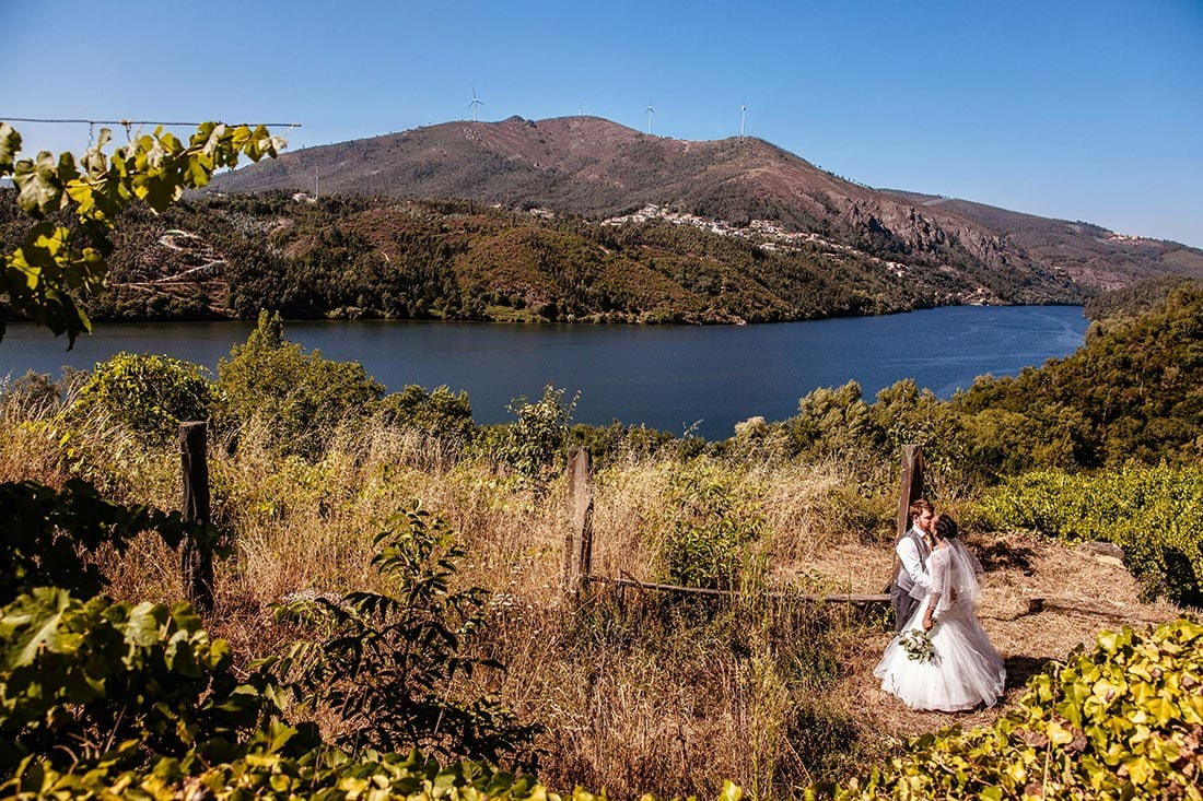 destination wedding photograph of bride and groom in europe
