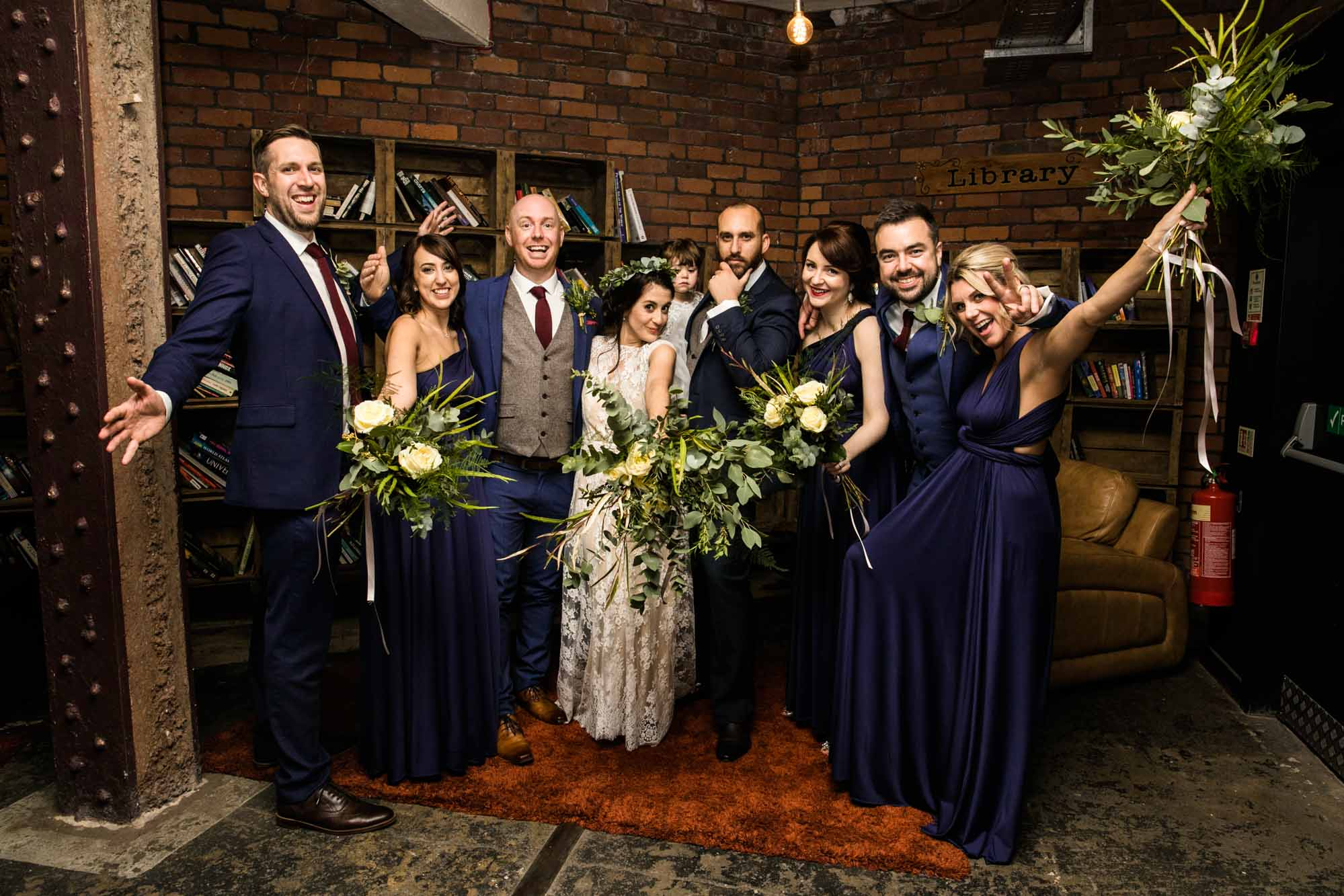 Fun Wedding Photography at Victoria Warehouse Manchester