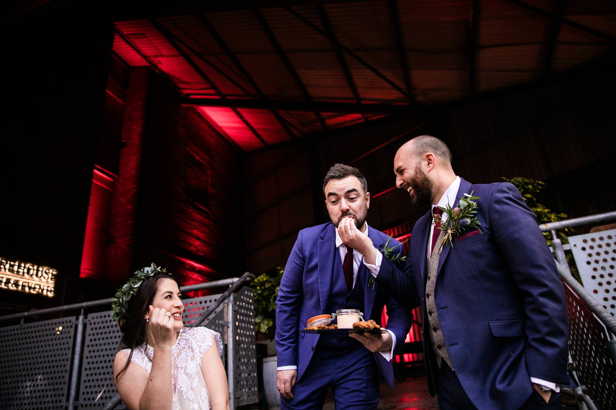 Fun Wedding Photos Victoria Warehouse