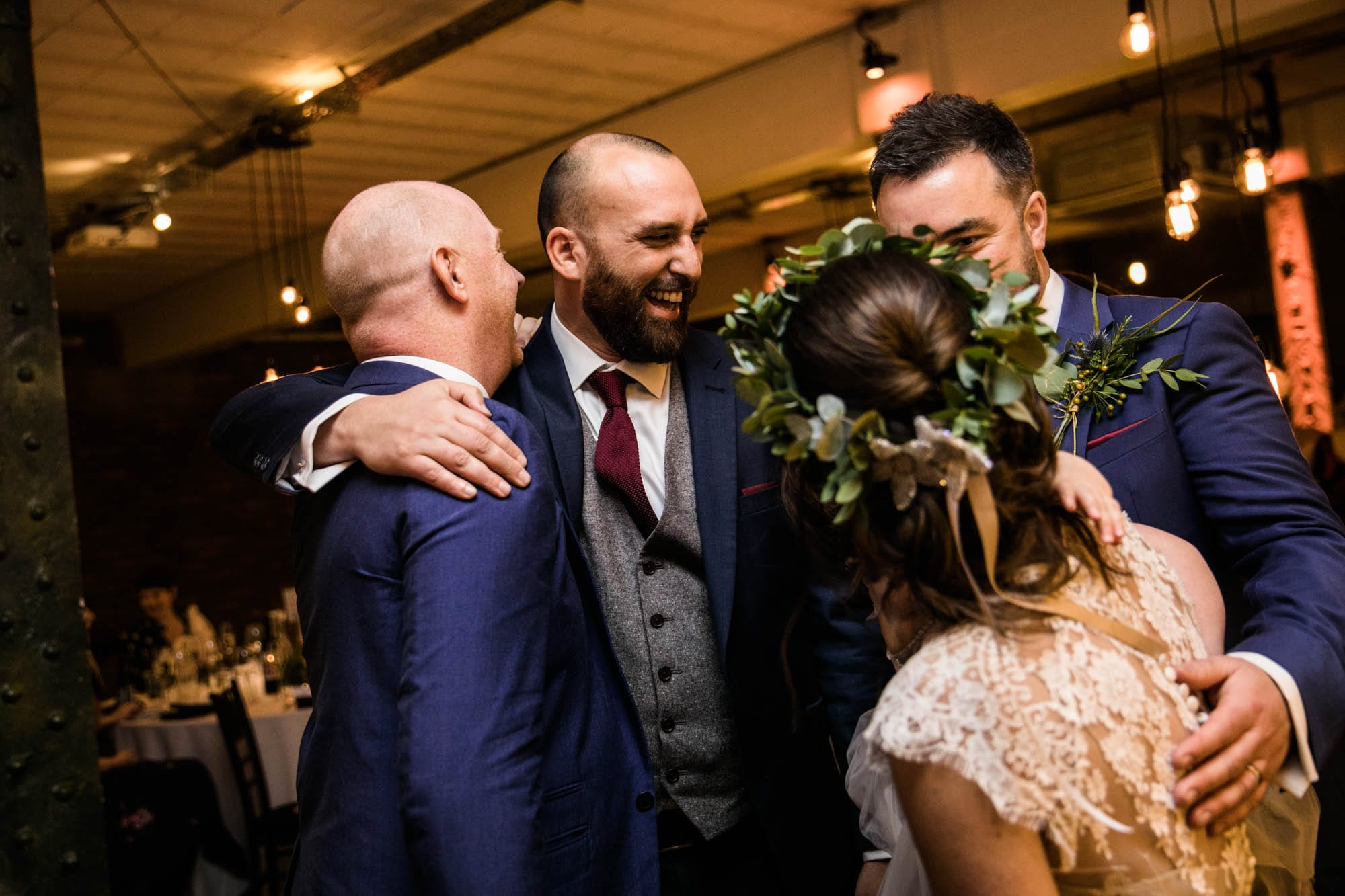 Victoria Warehouse Informal Wedding Photographer