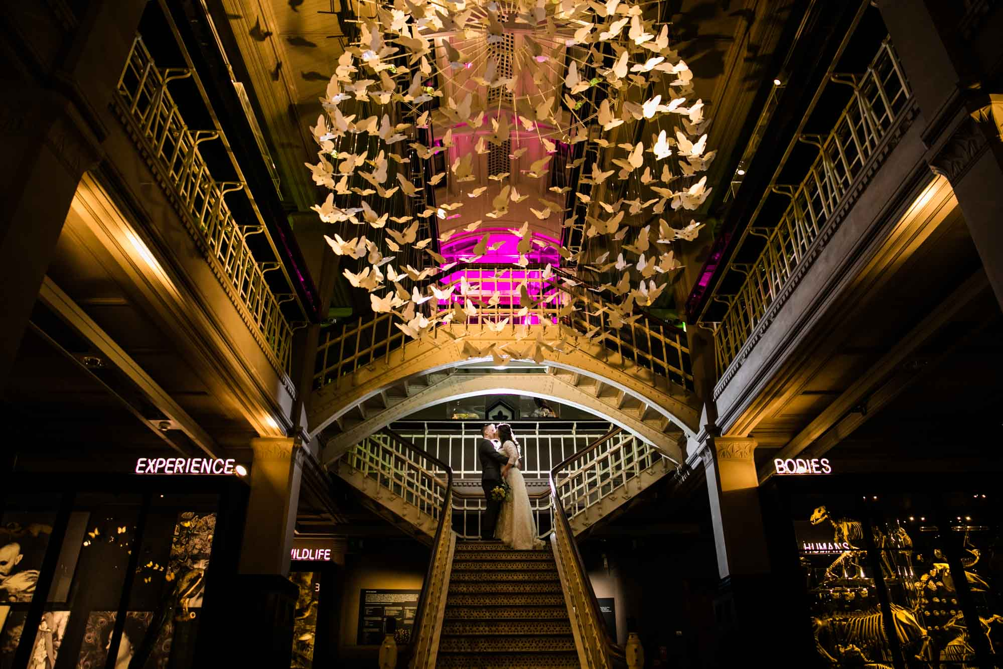 Creative Wedding Photographs Manchester Museum