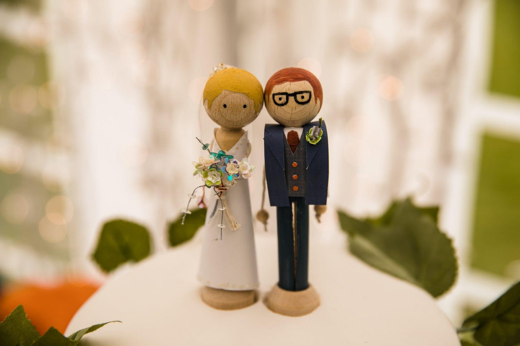 Peg bride groom cake toppers