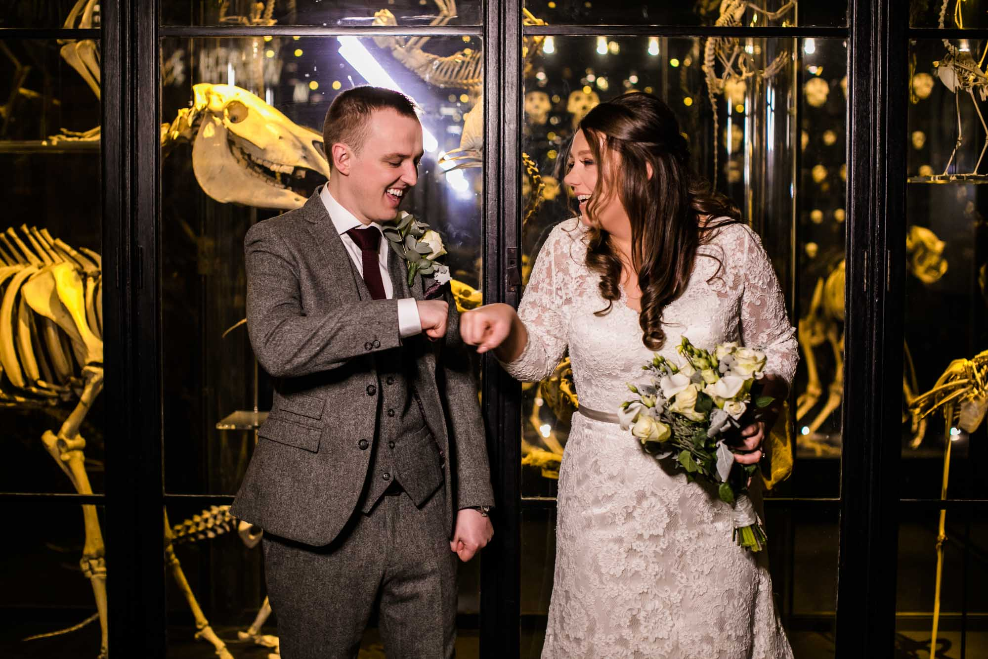 Quirky Wedding Photographs Manchester Museum