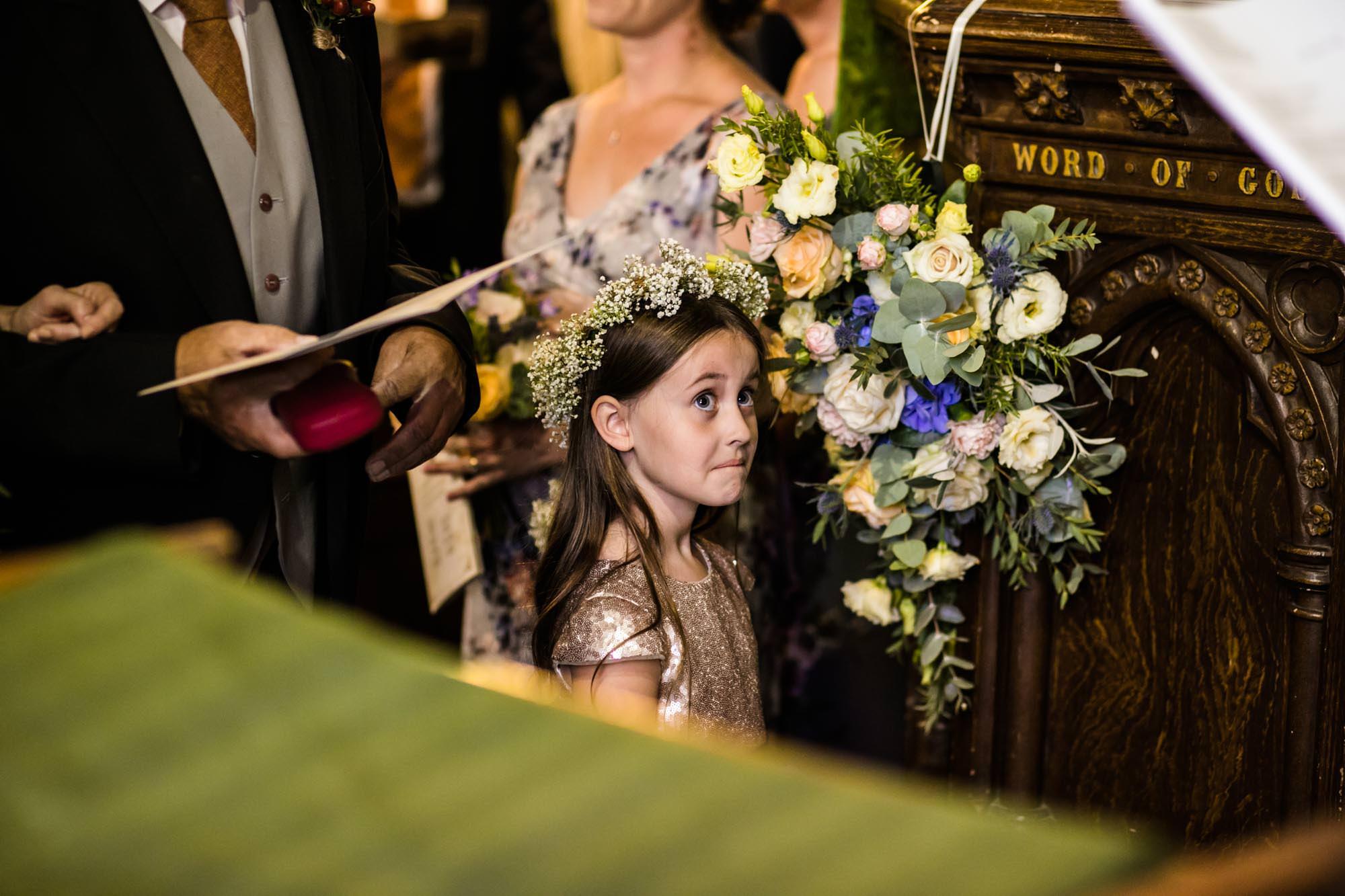 Wedding Photographer St Oswalds Church Backford