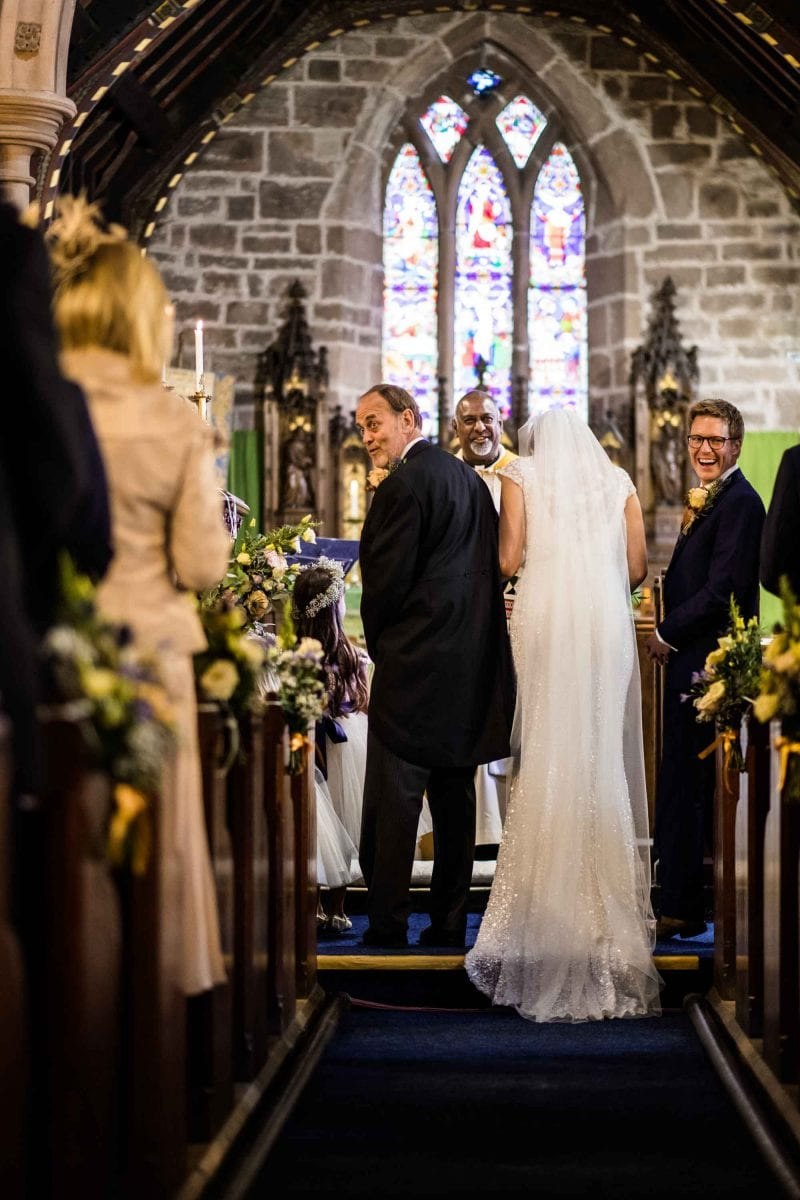 Wedding Photographs St Oswalds Church Backford