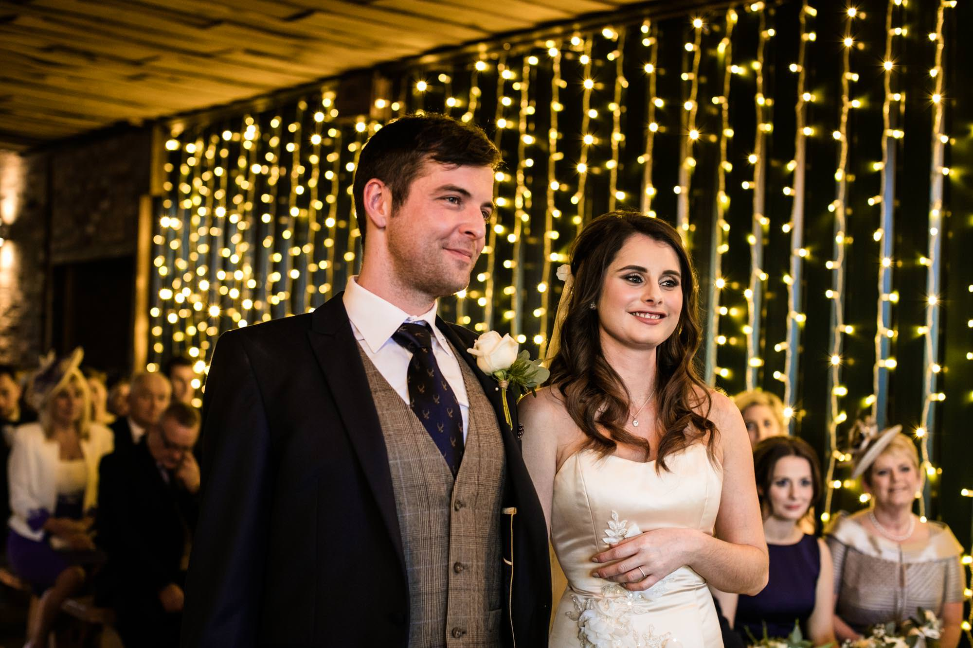 Owen House Barn Christmas Wedding Photographs