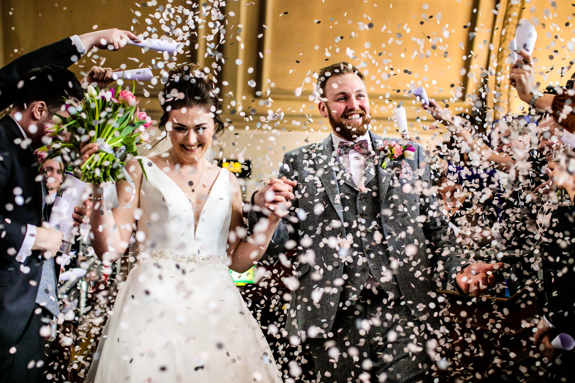 Colourful Wedding Photography Albert Hall Manchester