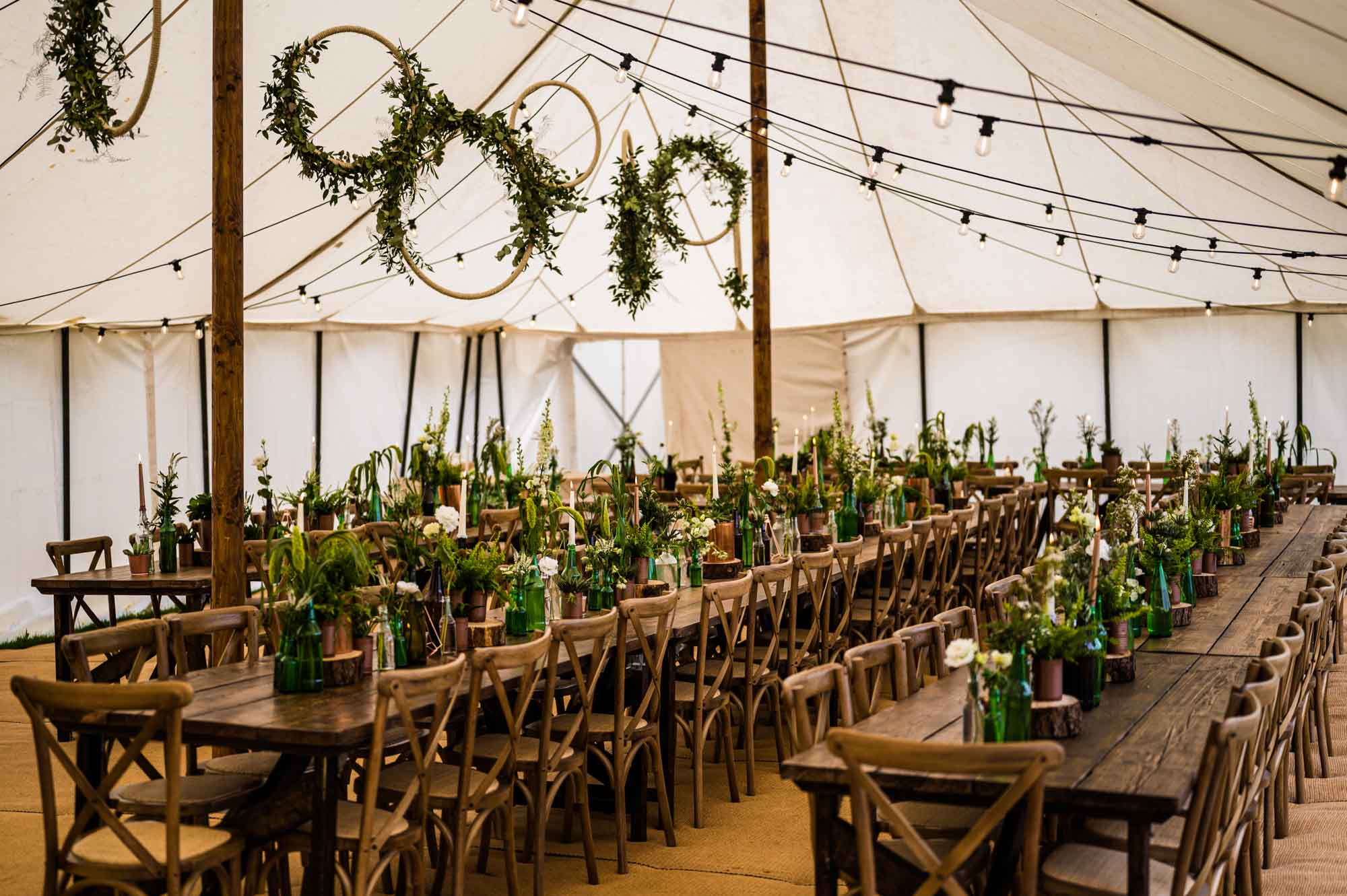 Green Marquee Wedding Decor