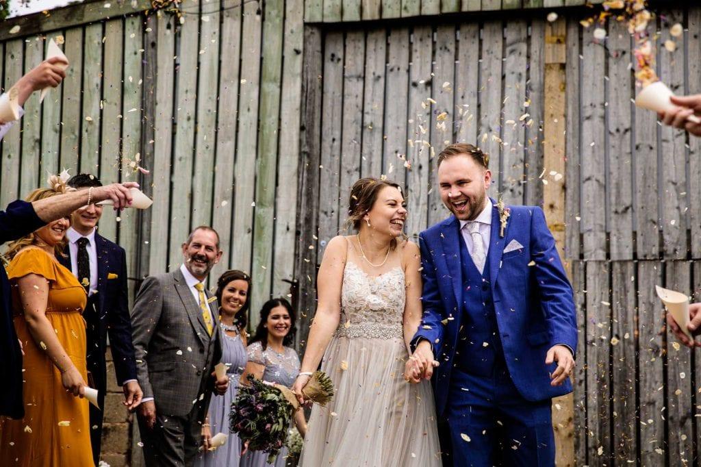 Colourful Wedding Photographer Hilltop Barn