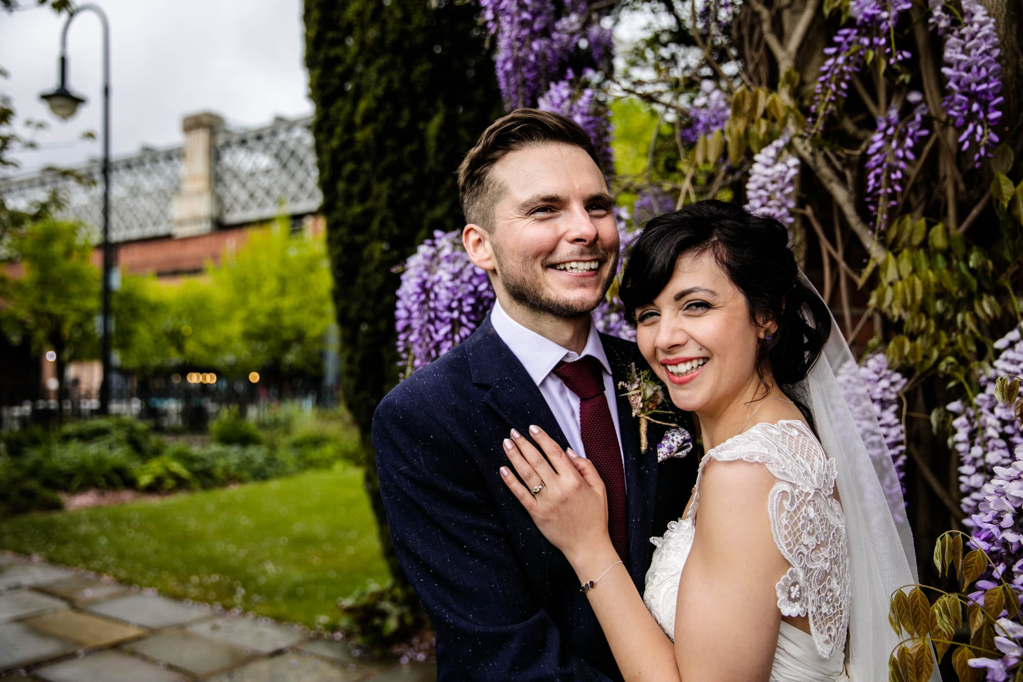 Colourful Wedding Photographs Castlefield Rooms
