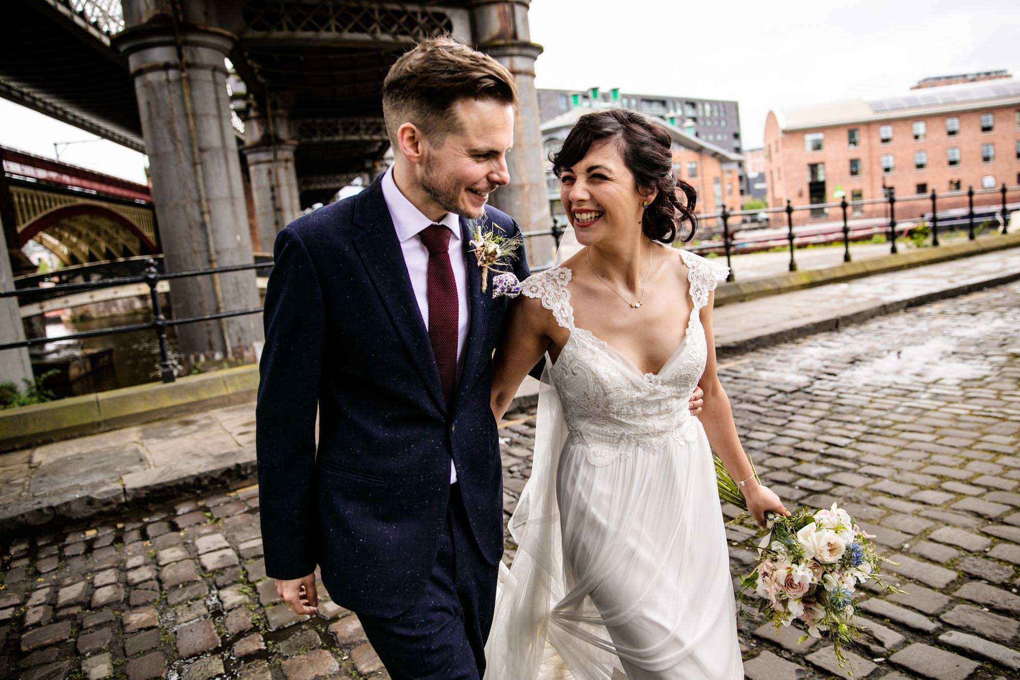 Colourful Wedding Photography Castlefield Rooms