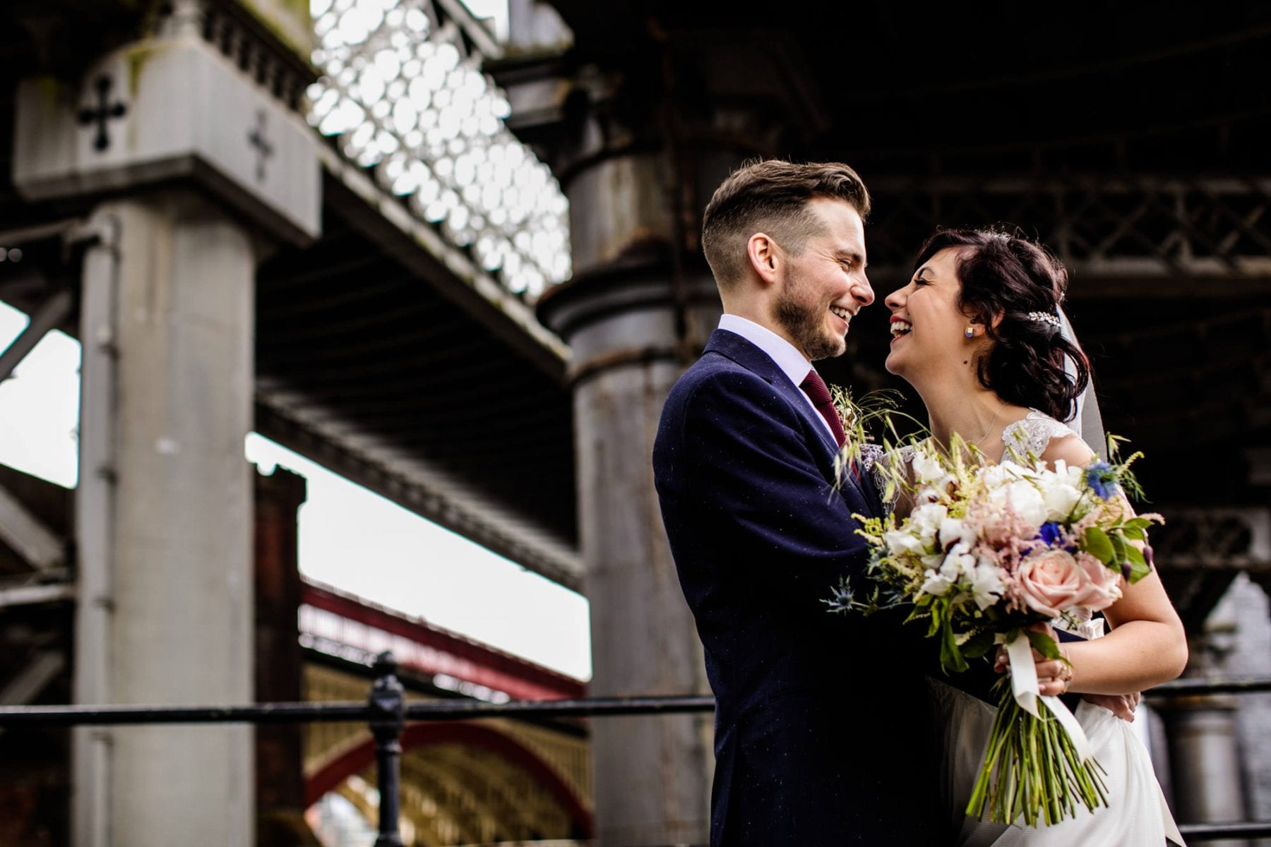 Creative Wedding Photography Castlefield Rooms